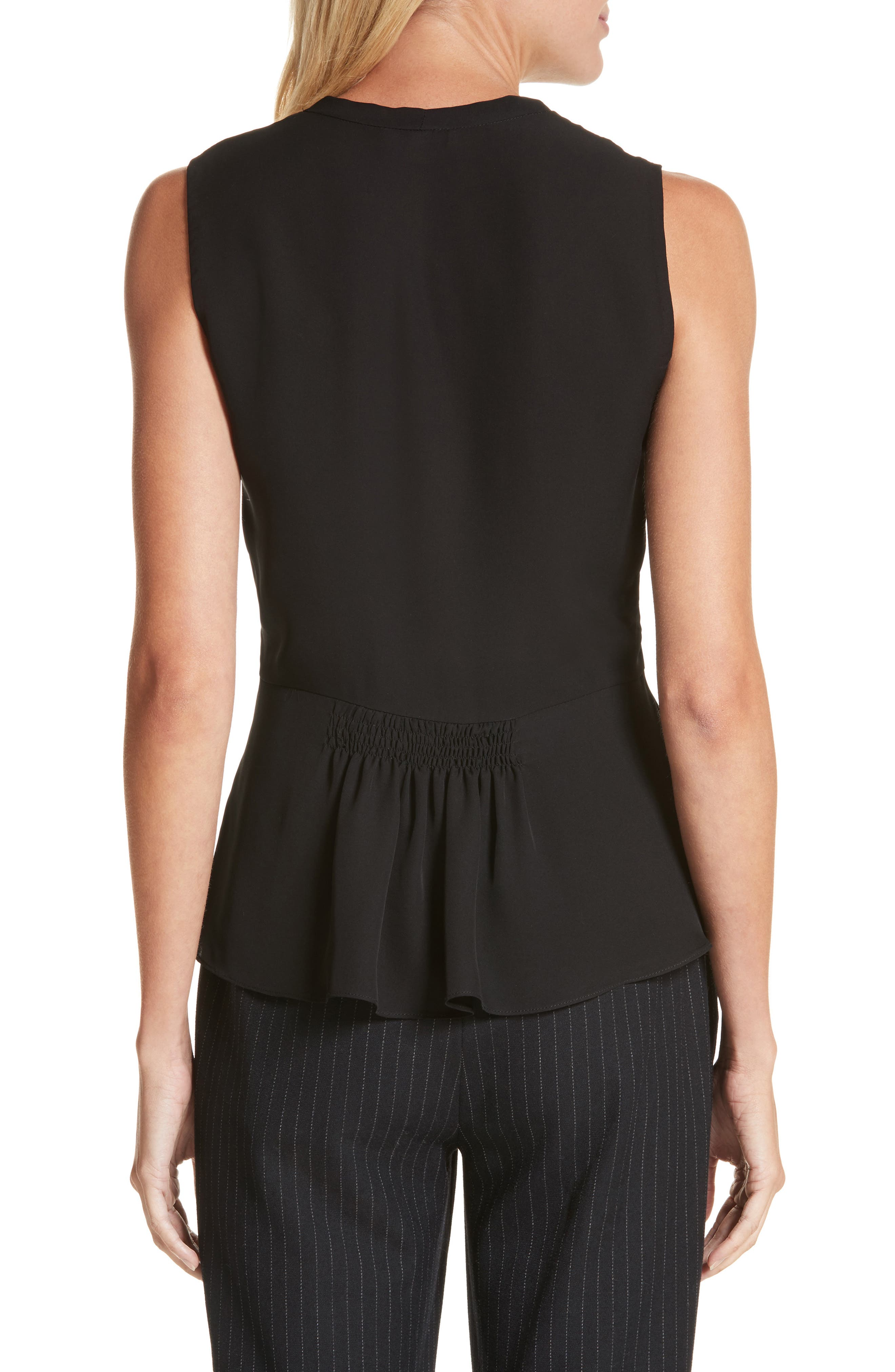Alternate Image 2  - Rebecca Taylor Sleeveless Silk Blouse