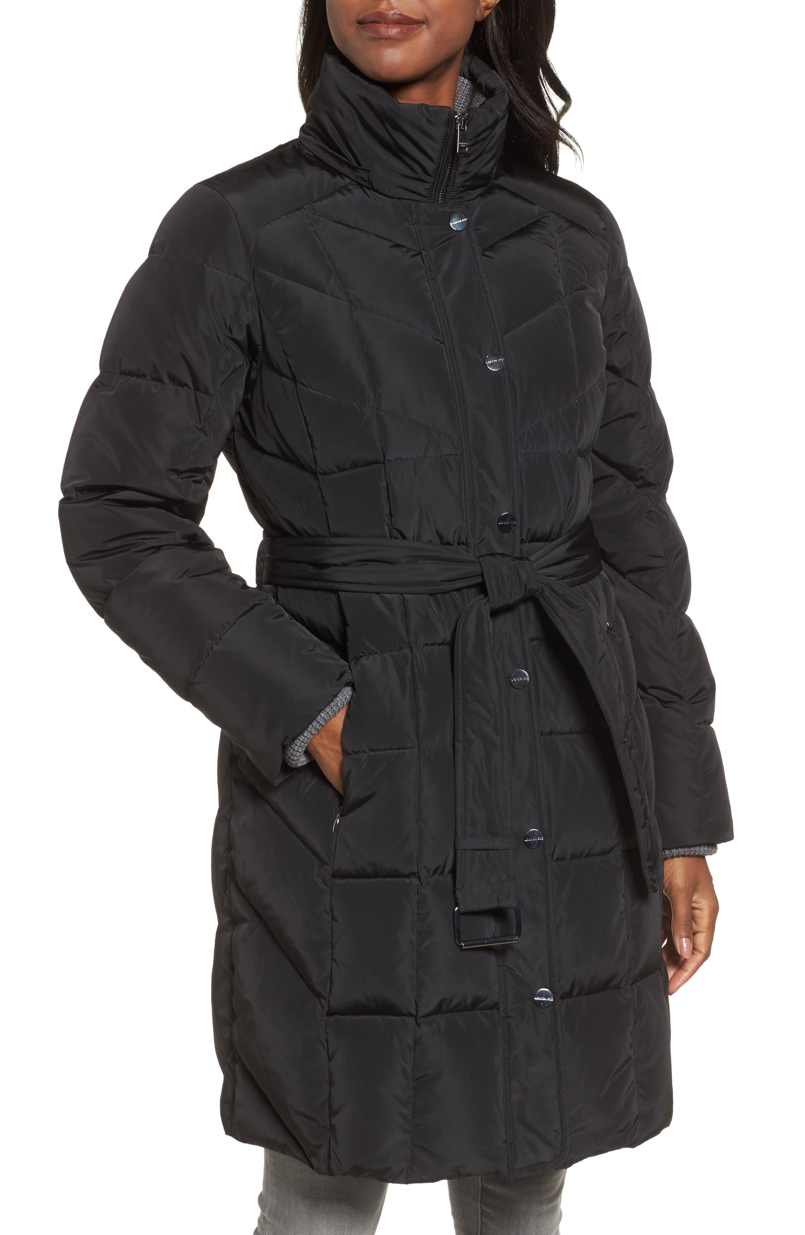 Alternate Image 4  - London Fog Down Coat with Faux Fur Trim