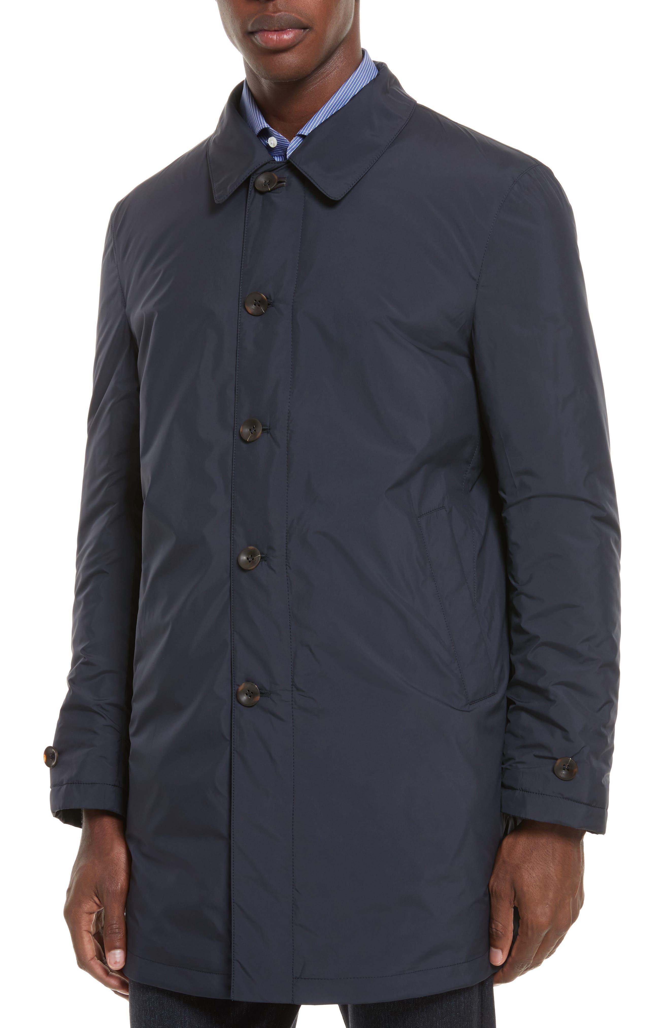 Reversible Raincoat,                             Alternate thumbnail 4, color,                             Navy