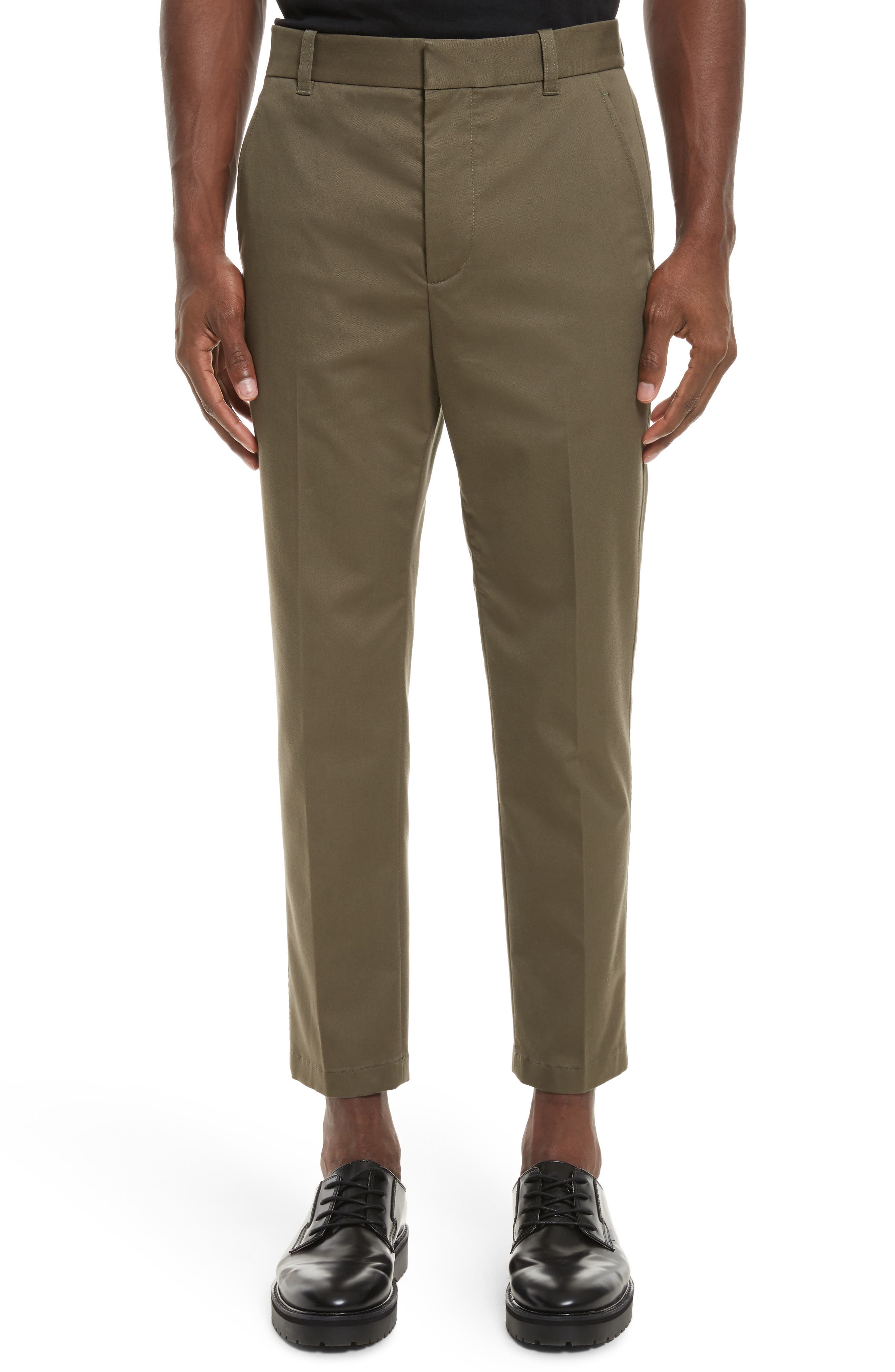 Cropped Pants,                         Main,                         color, Army
