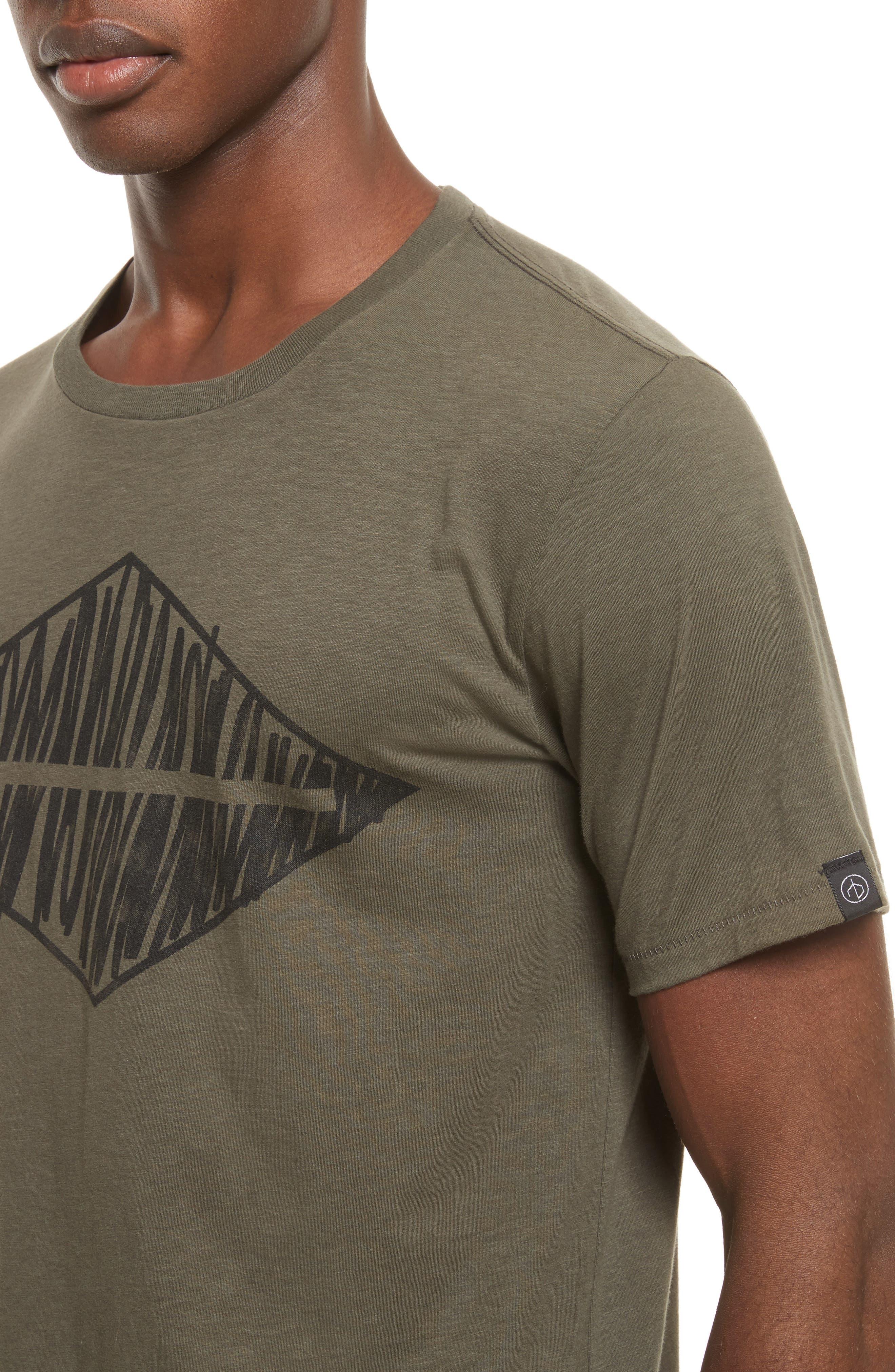 Alternate Image 4  - rag & bone Diamond Graphic T-Shirt