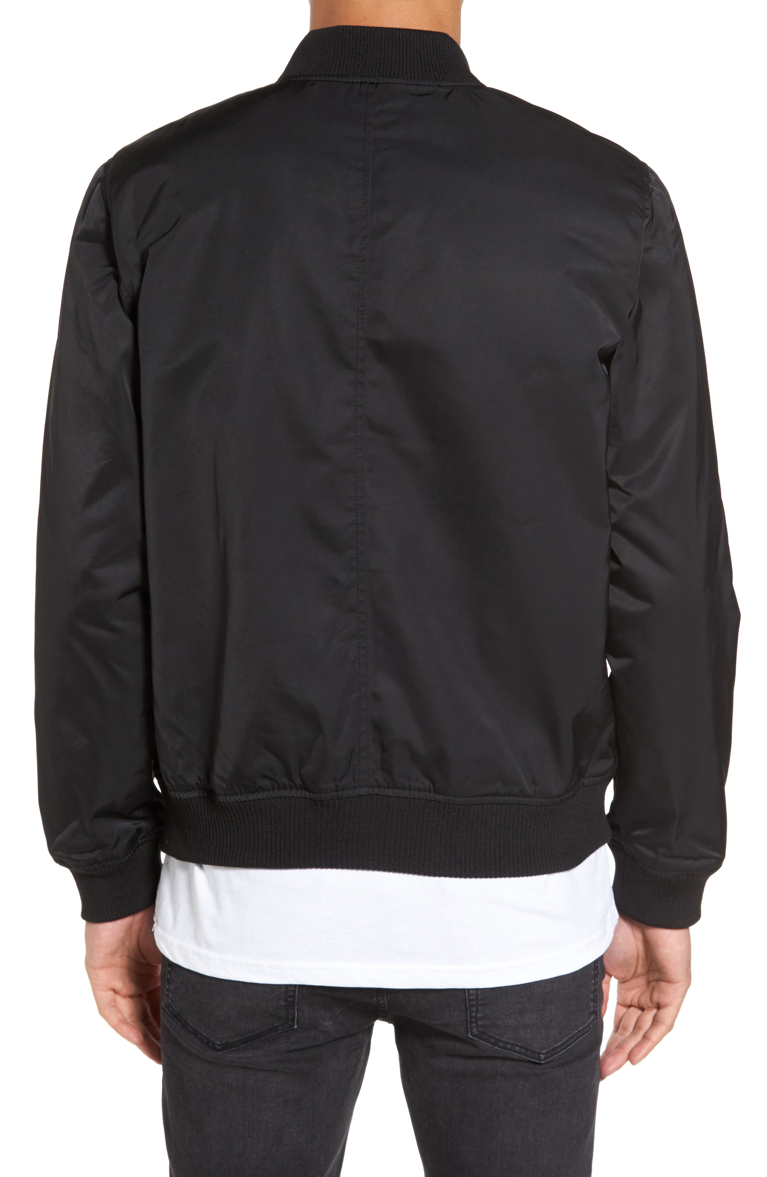 Mason Bomber Jacket,                             Alternate thumbnail 2, color,                             Black