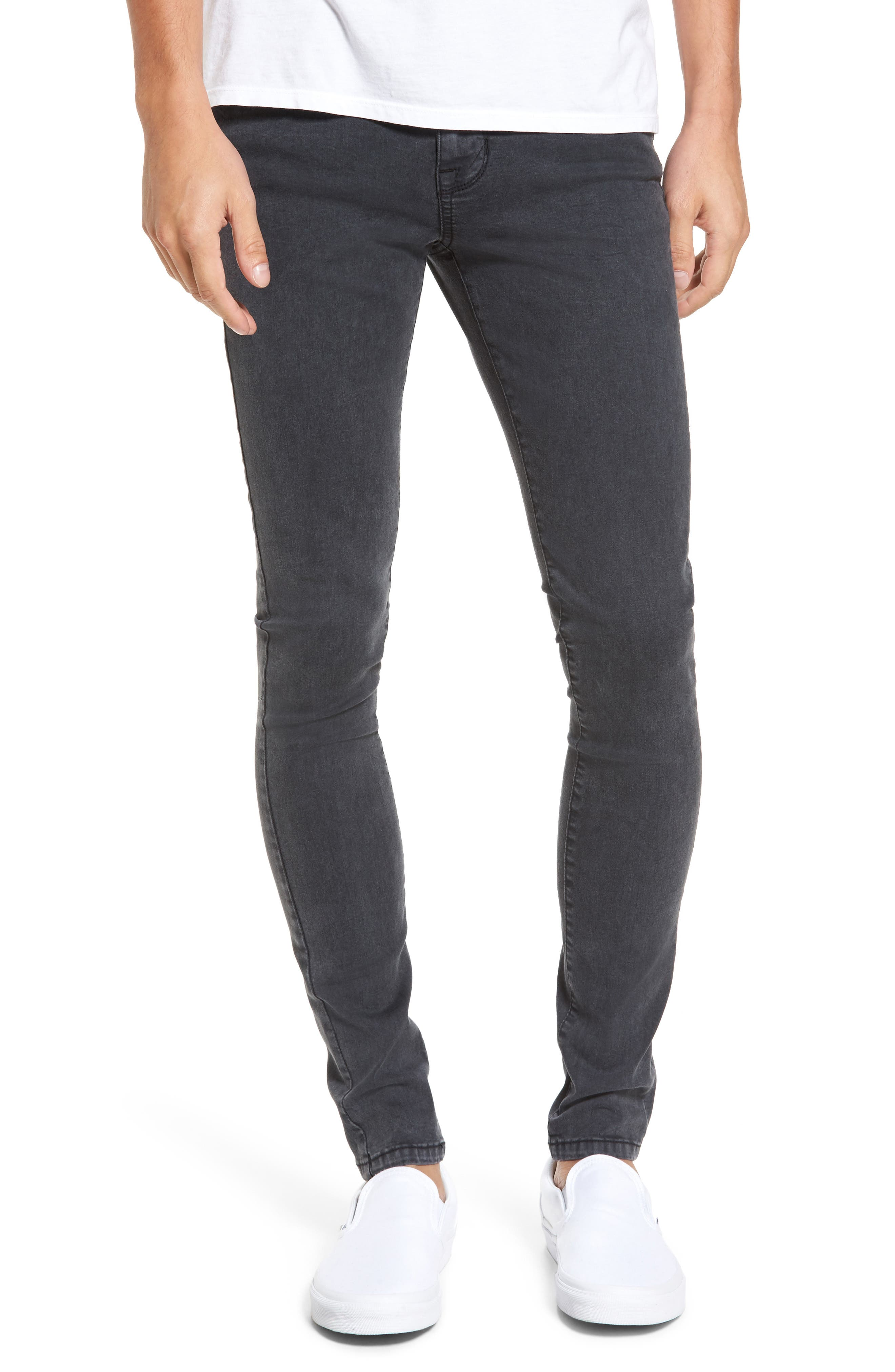 Leroy Slim Fit Jeans,                         Main,                         color, Grey Lush