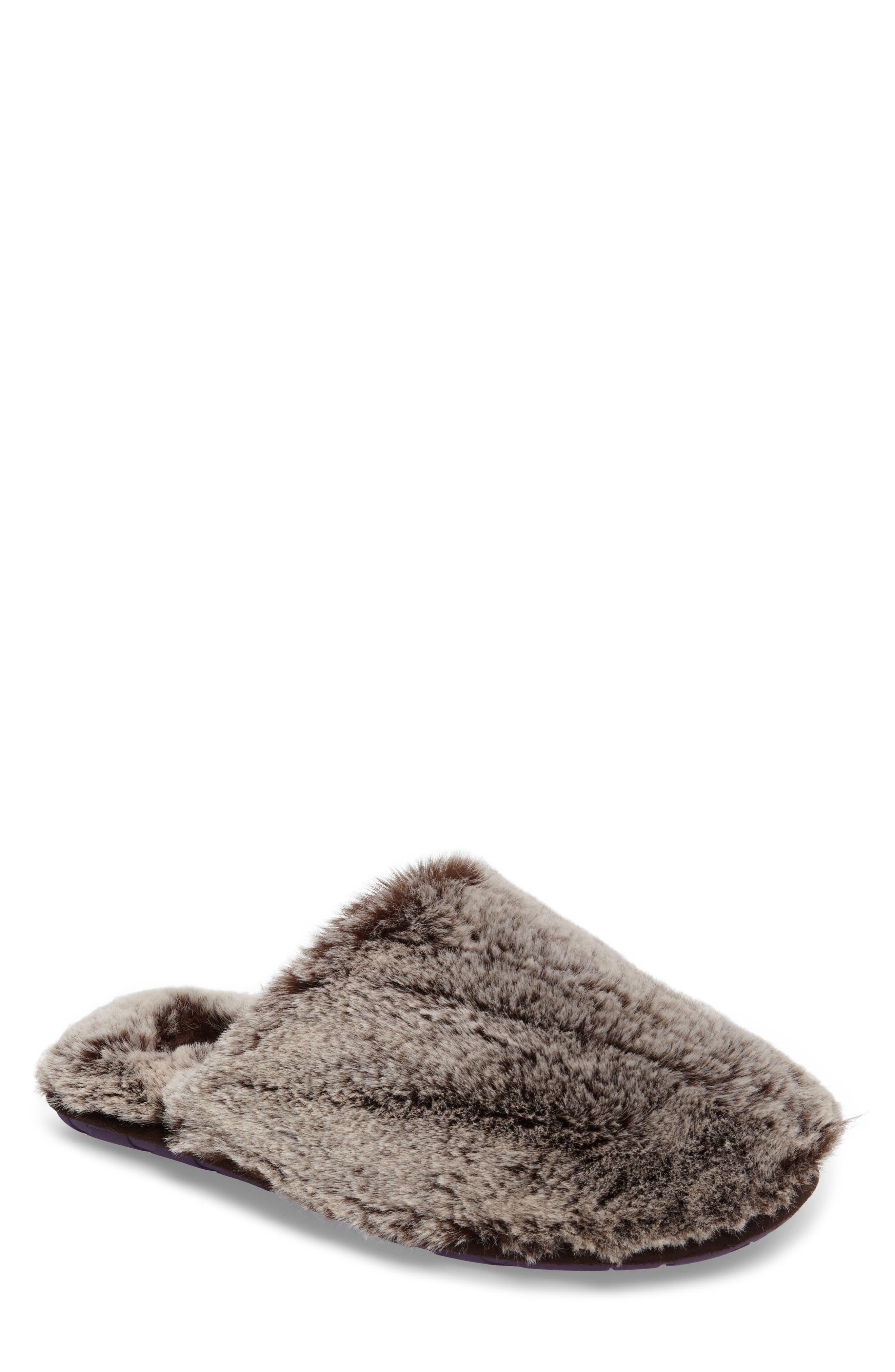 Ted Baker London Nnyah Faux Fur Scuff Slipper (Men)