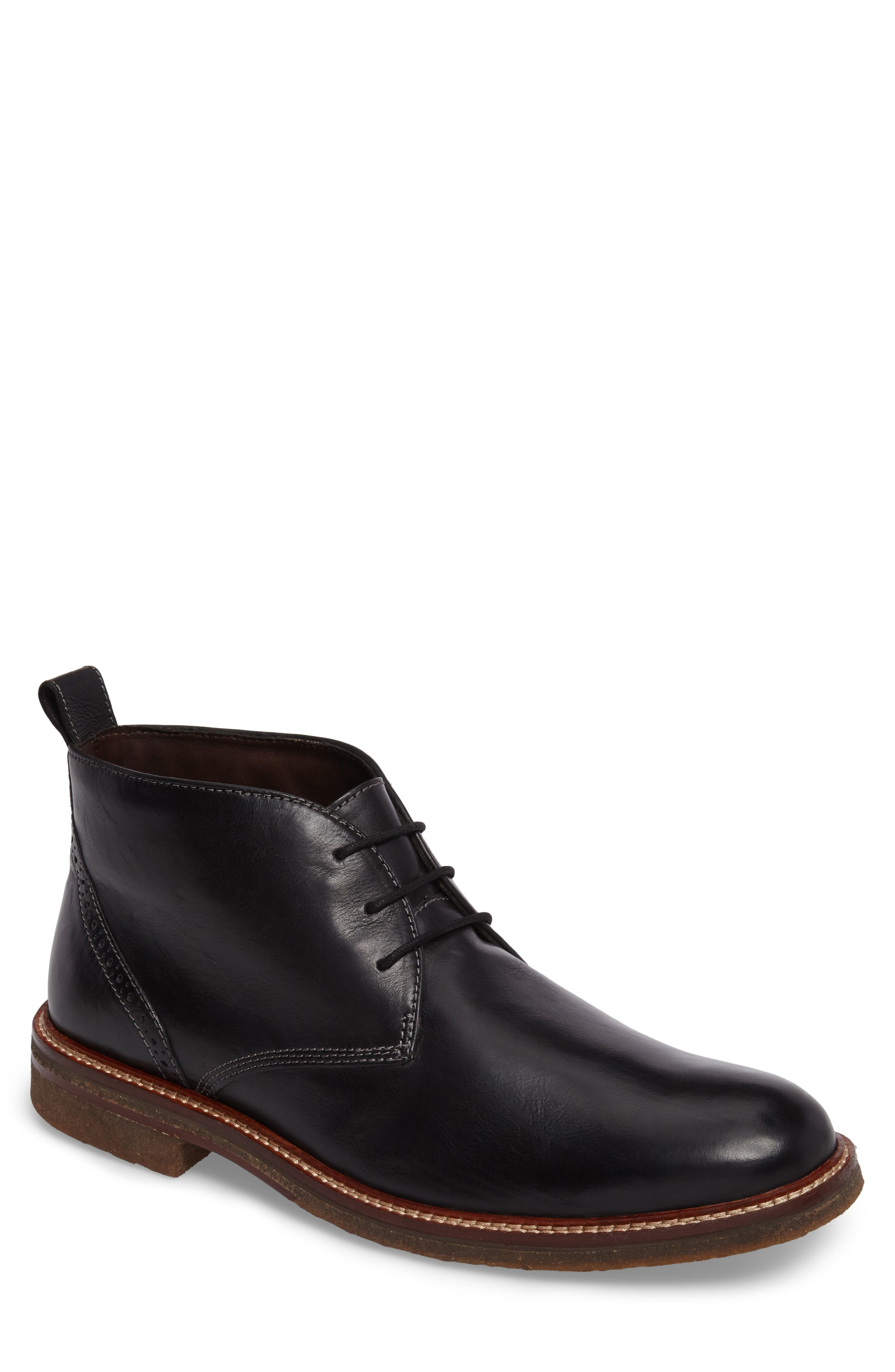 Forrester Chukka Boot,                             Main thumbnail 1, color,                             Black Leather