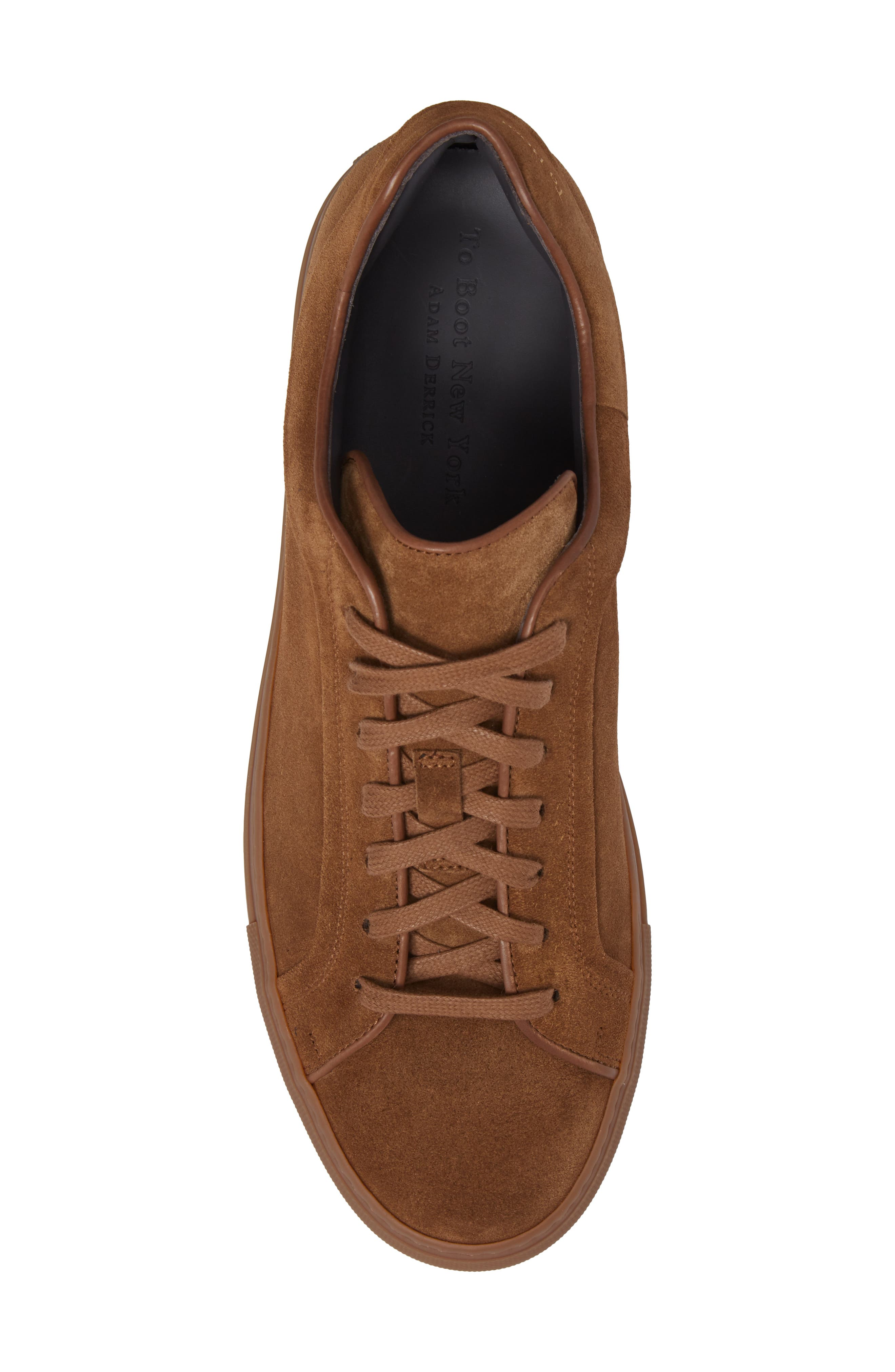 Marshall Sneaker,                             Alternate thumbnail 5, color,                             Brown Suede Leather