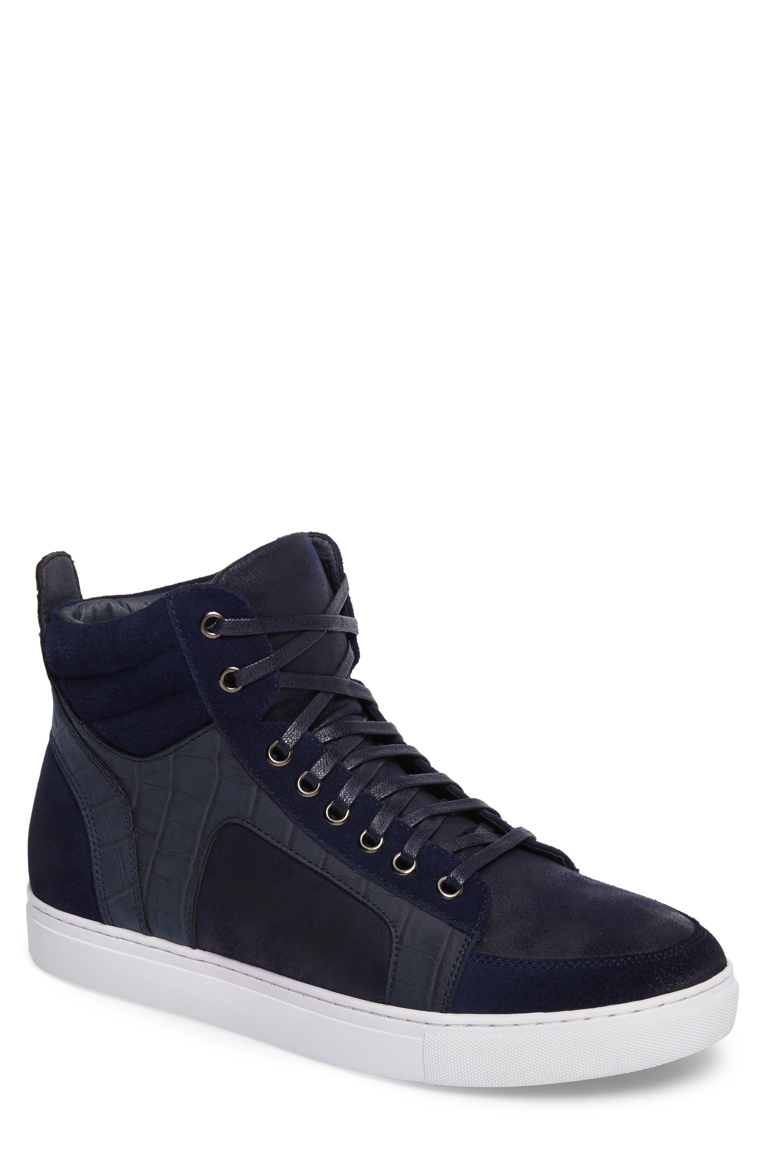 Makin Sneaker,                         Main,                         color, Navy Suede