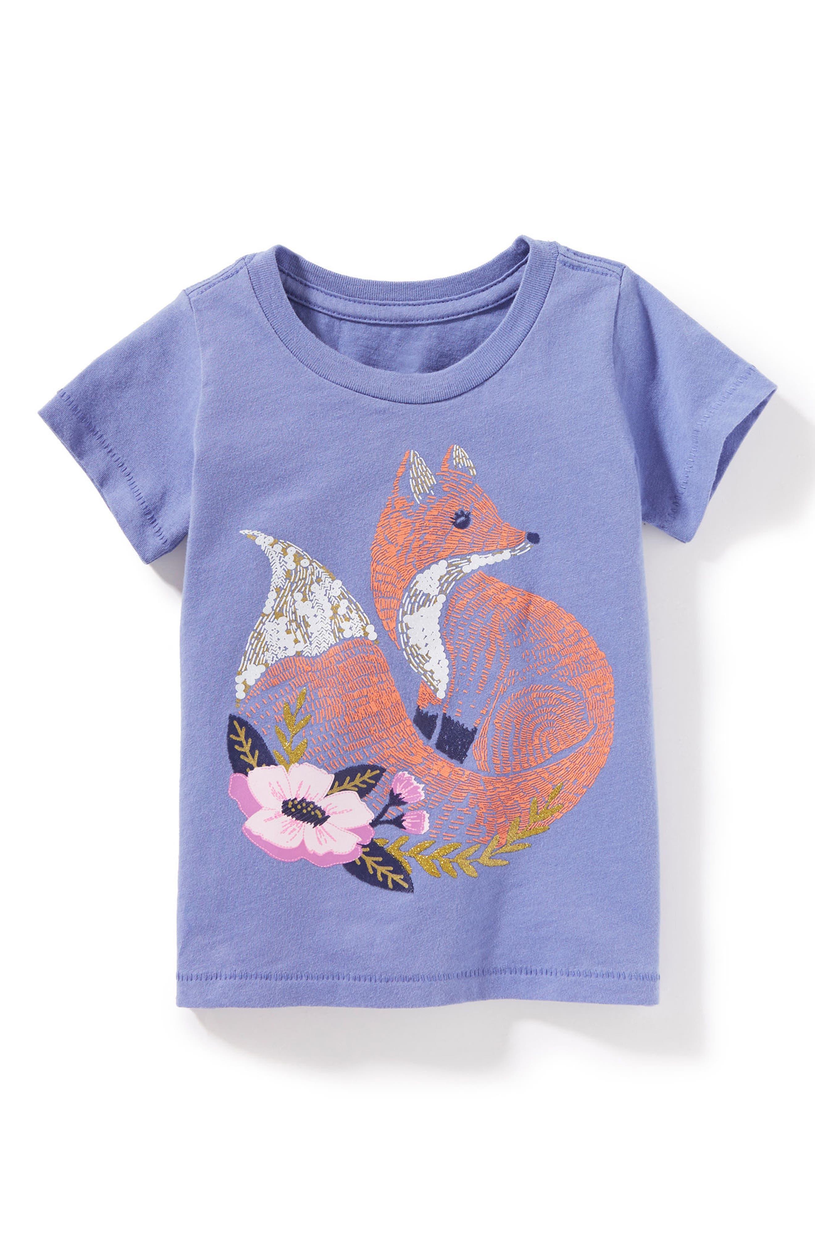 Fox Graphic Tee,                         Main,                         color, Lavender