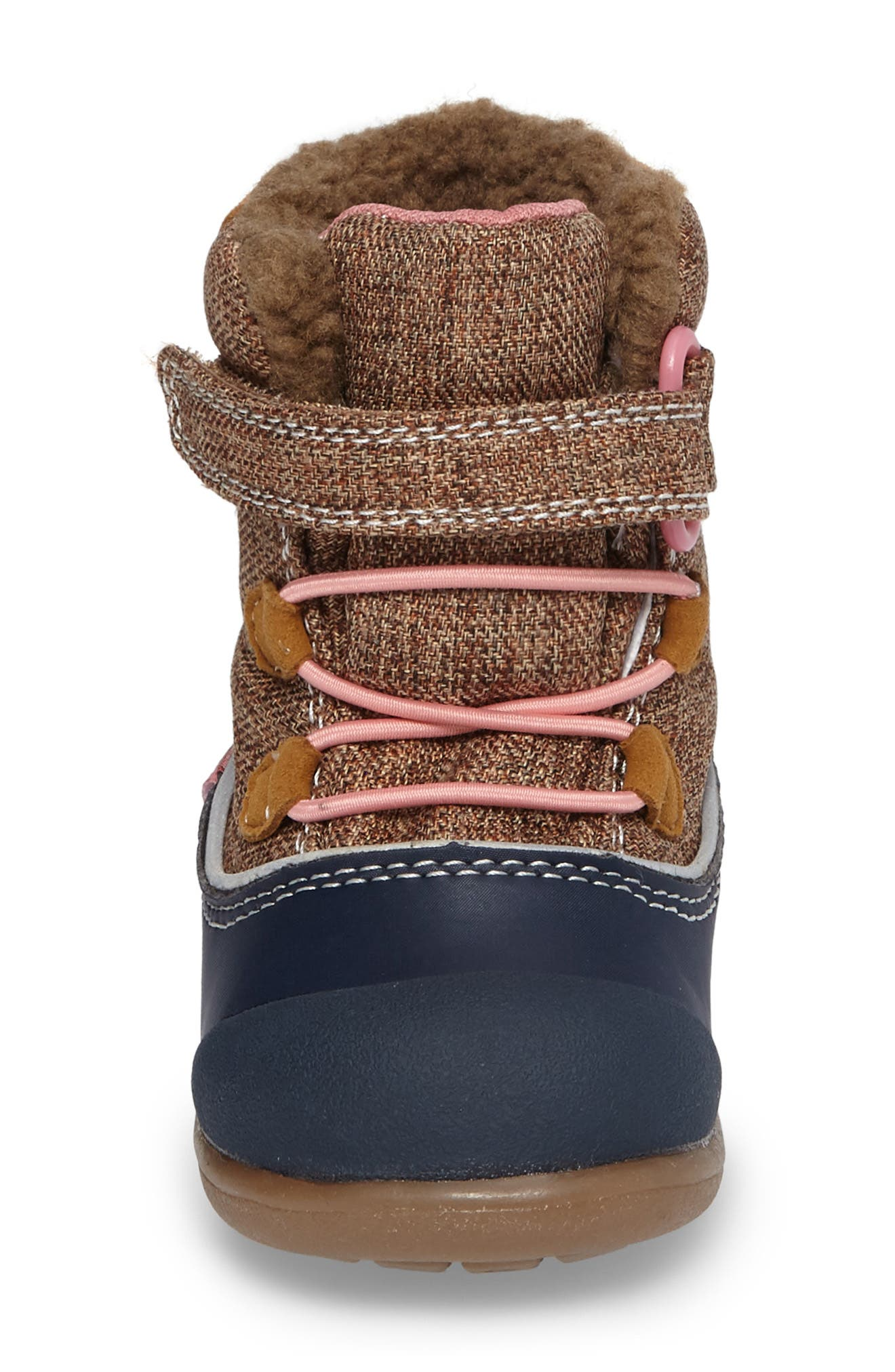 'Abby' Waterproof Boot,                             Alternate thumbnail 4, color,                             Brown