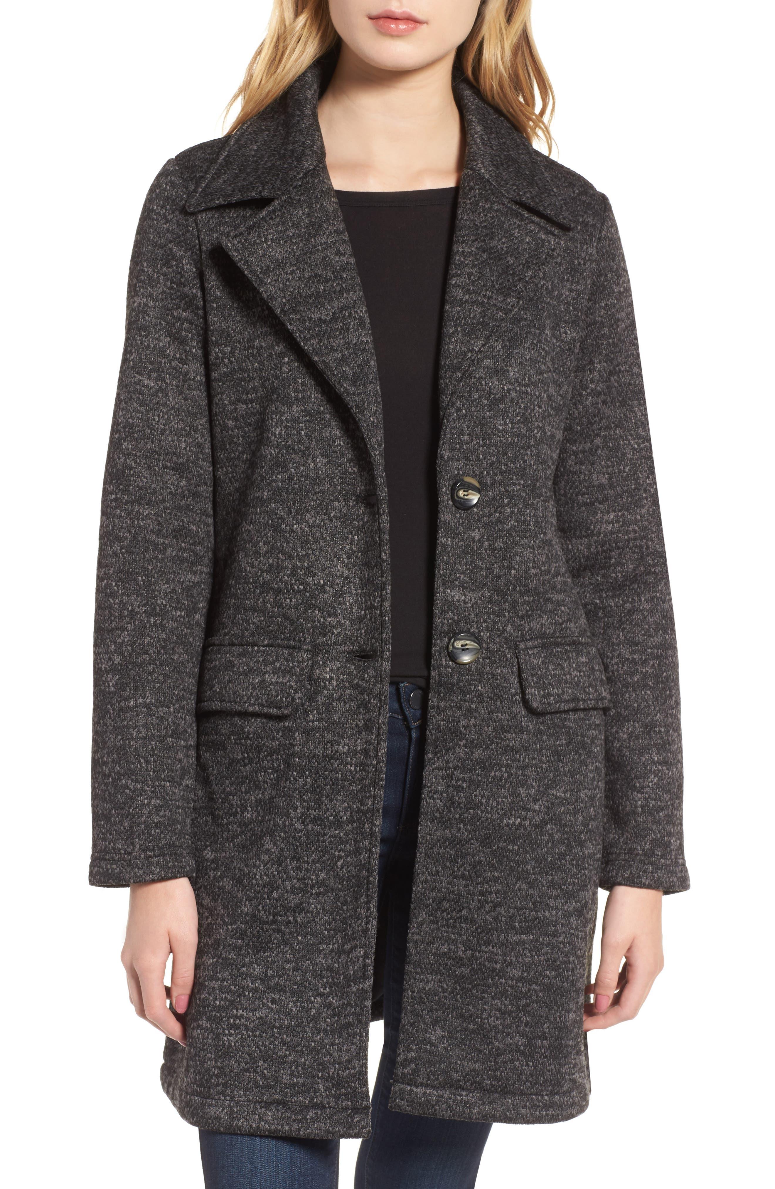 Alternate Image 1 Selected - Steve Madden Belted Fleece Jacket