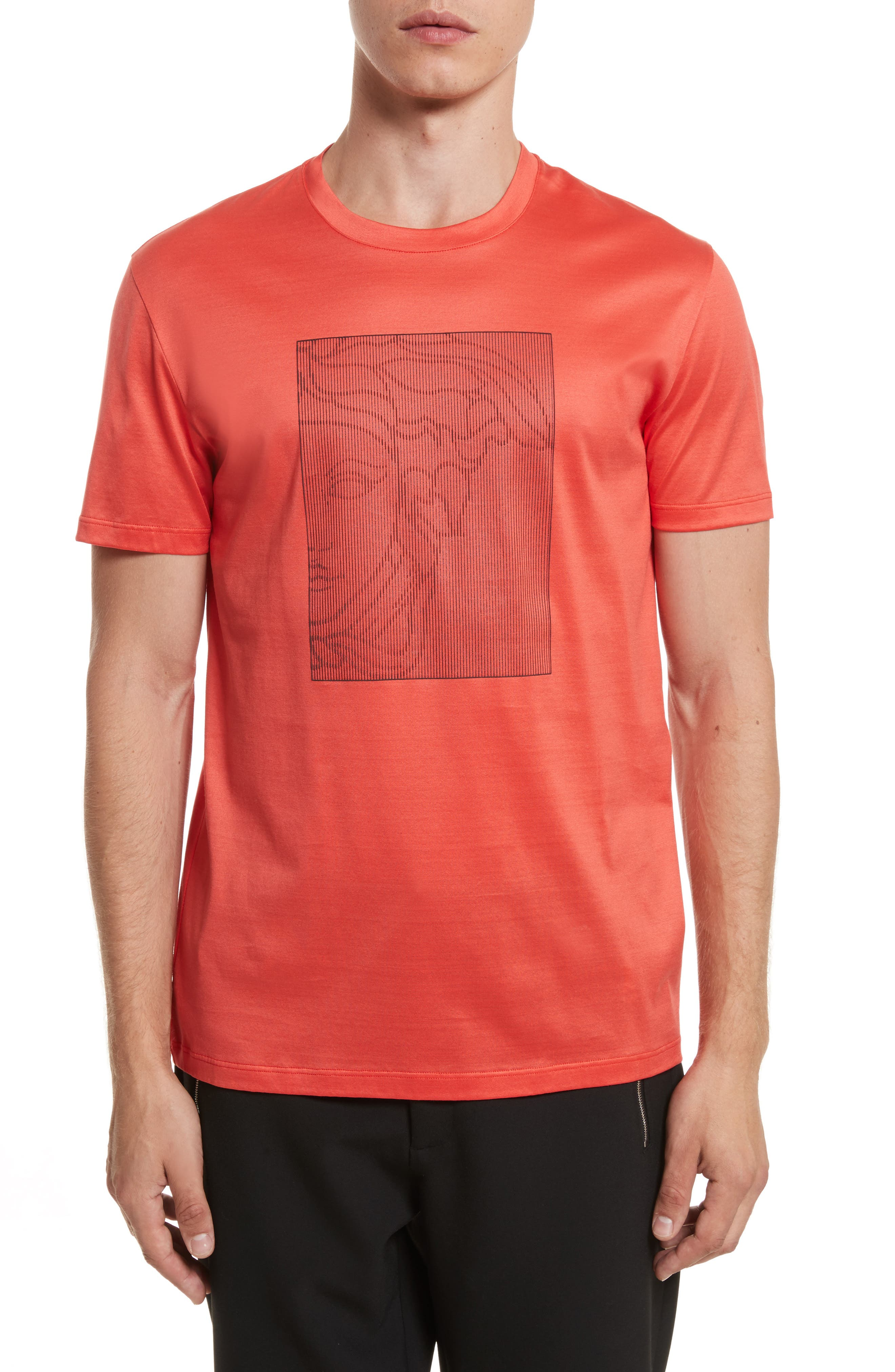 Barcode Medusa Graphic T-Shirt,                         Main,                         color, Red