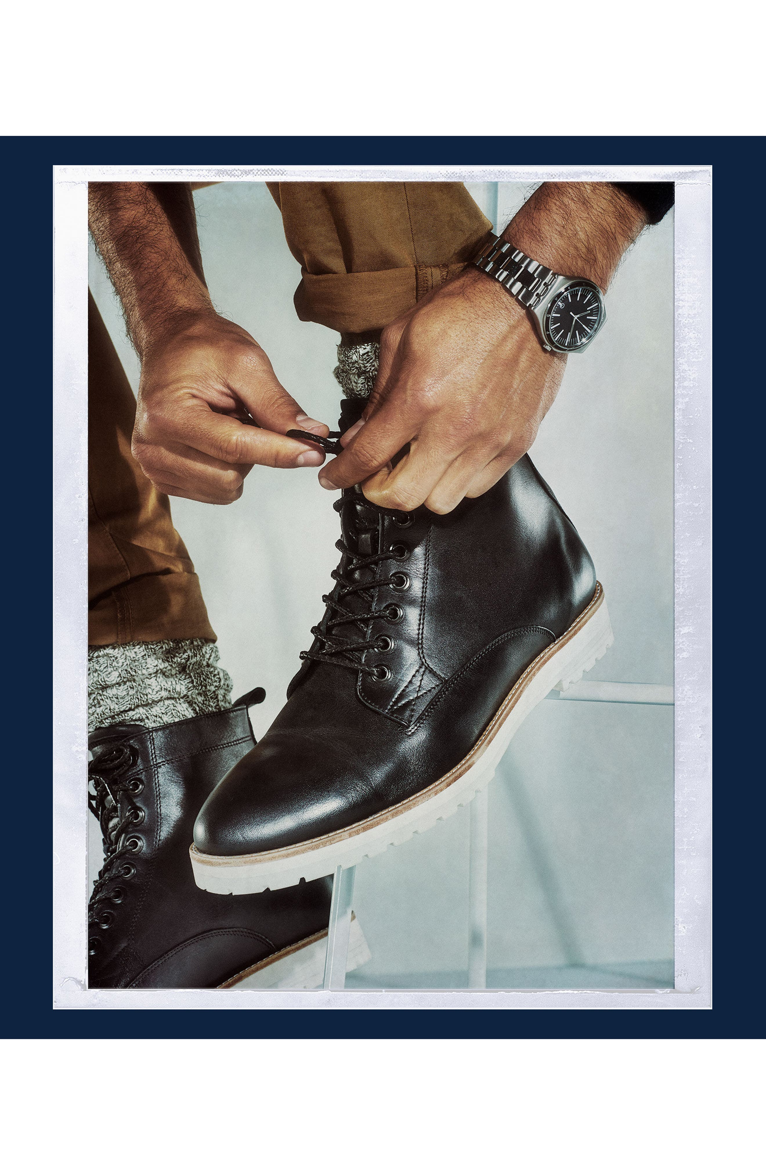 Alternate Image 7  - Steve Madden x GQ Andre Plain Toe Boot (Men)
