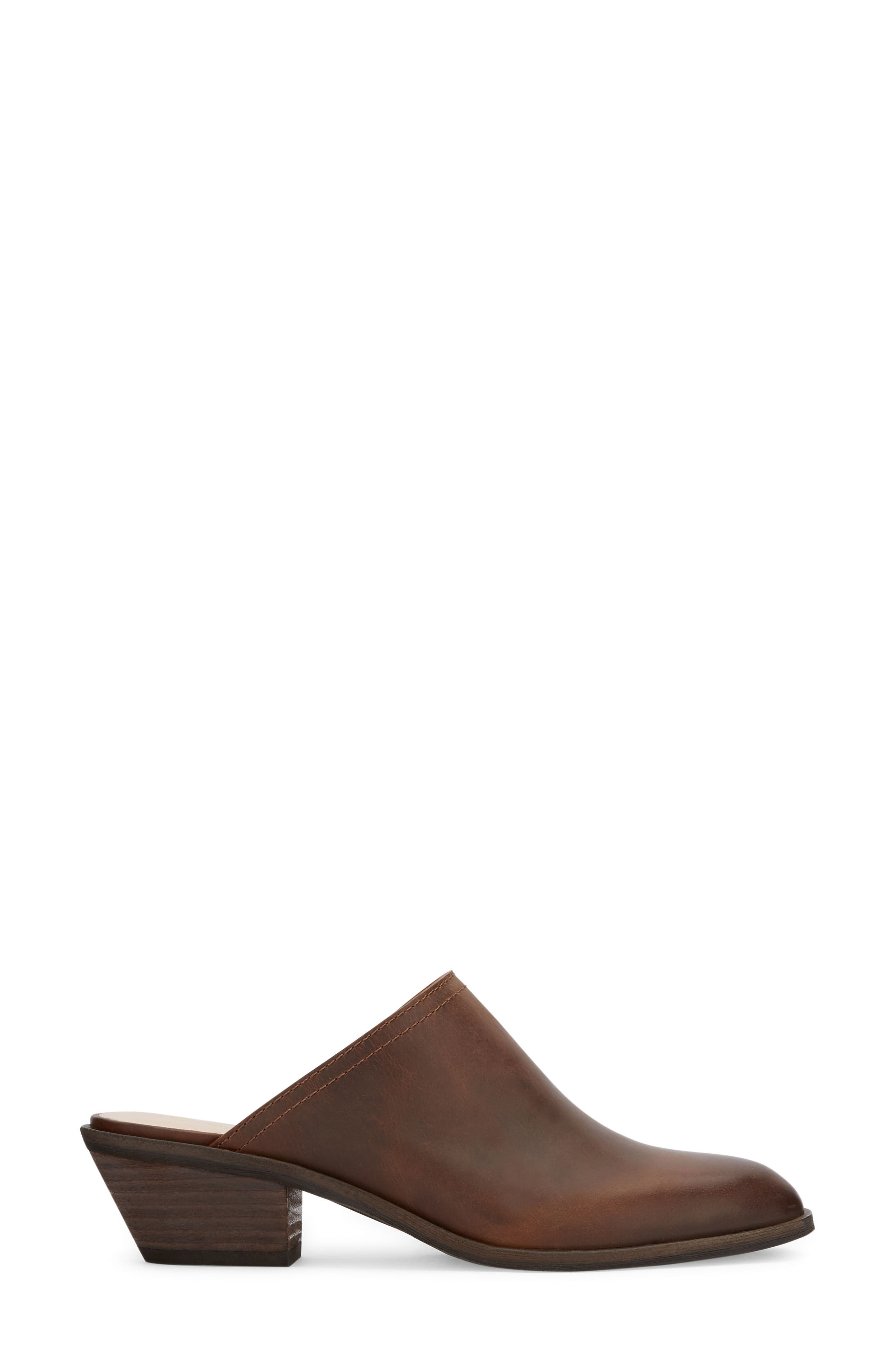 Nikki Mule,                             Alternate thumbnail 3, color,                             Dark Tan Leather