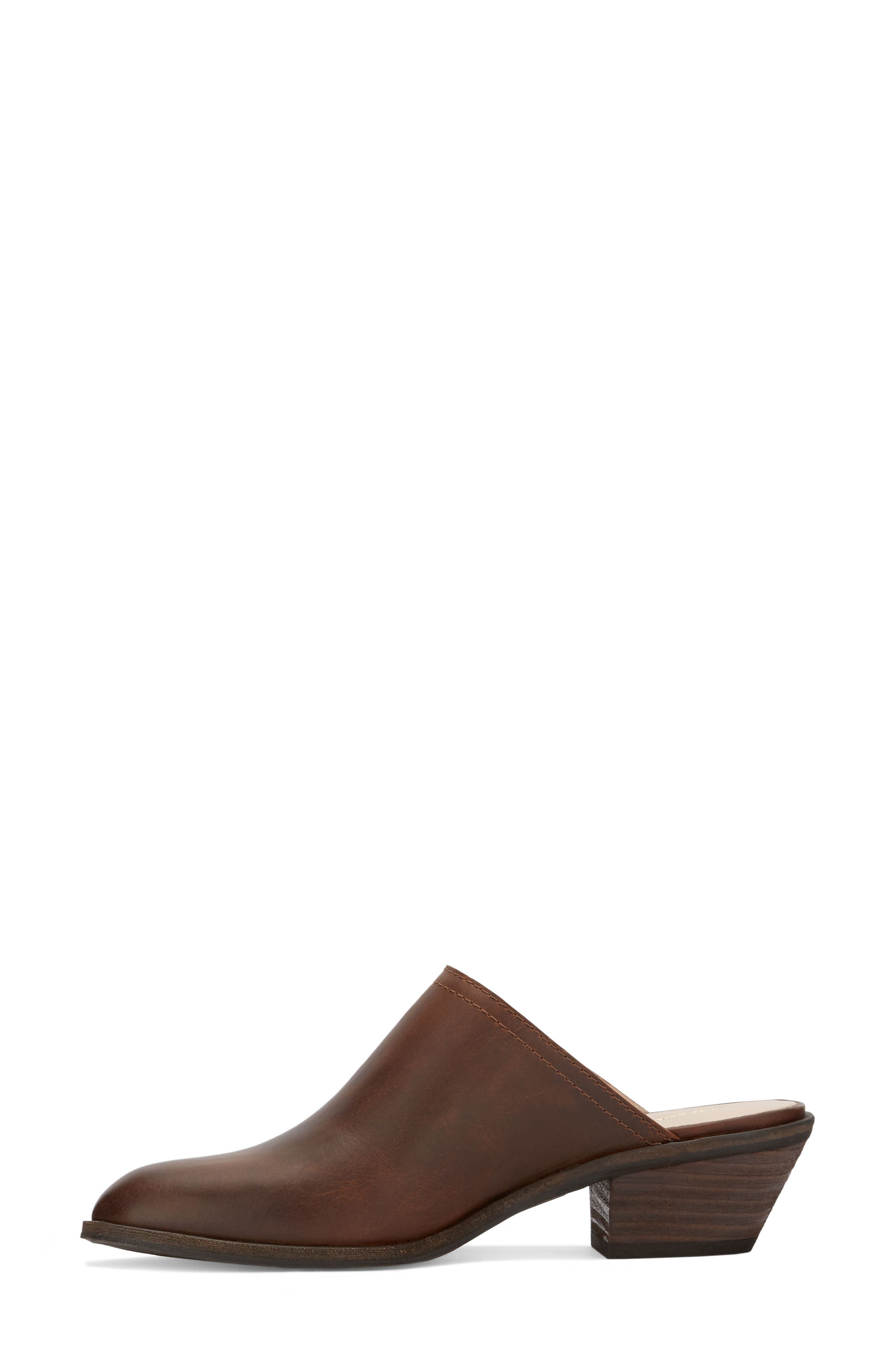 Nikki Mule,                             Alternate thumbnail 2, color,                             Dark Tan Leather