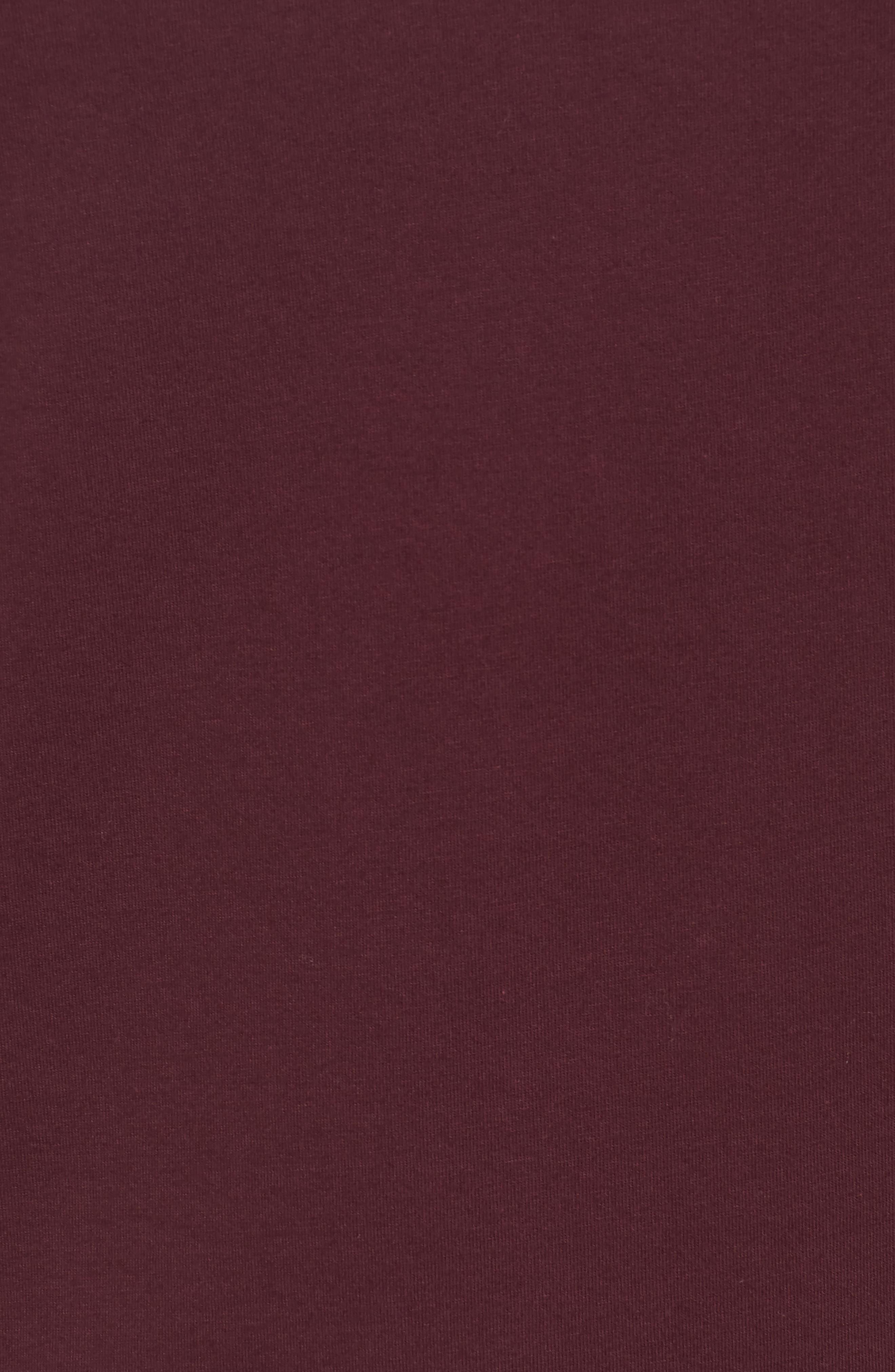 Slim Fit Crewneck T-Shirt,                             Alternate thumbnail 5, color,                             Bordeaux