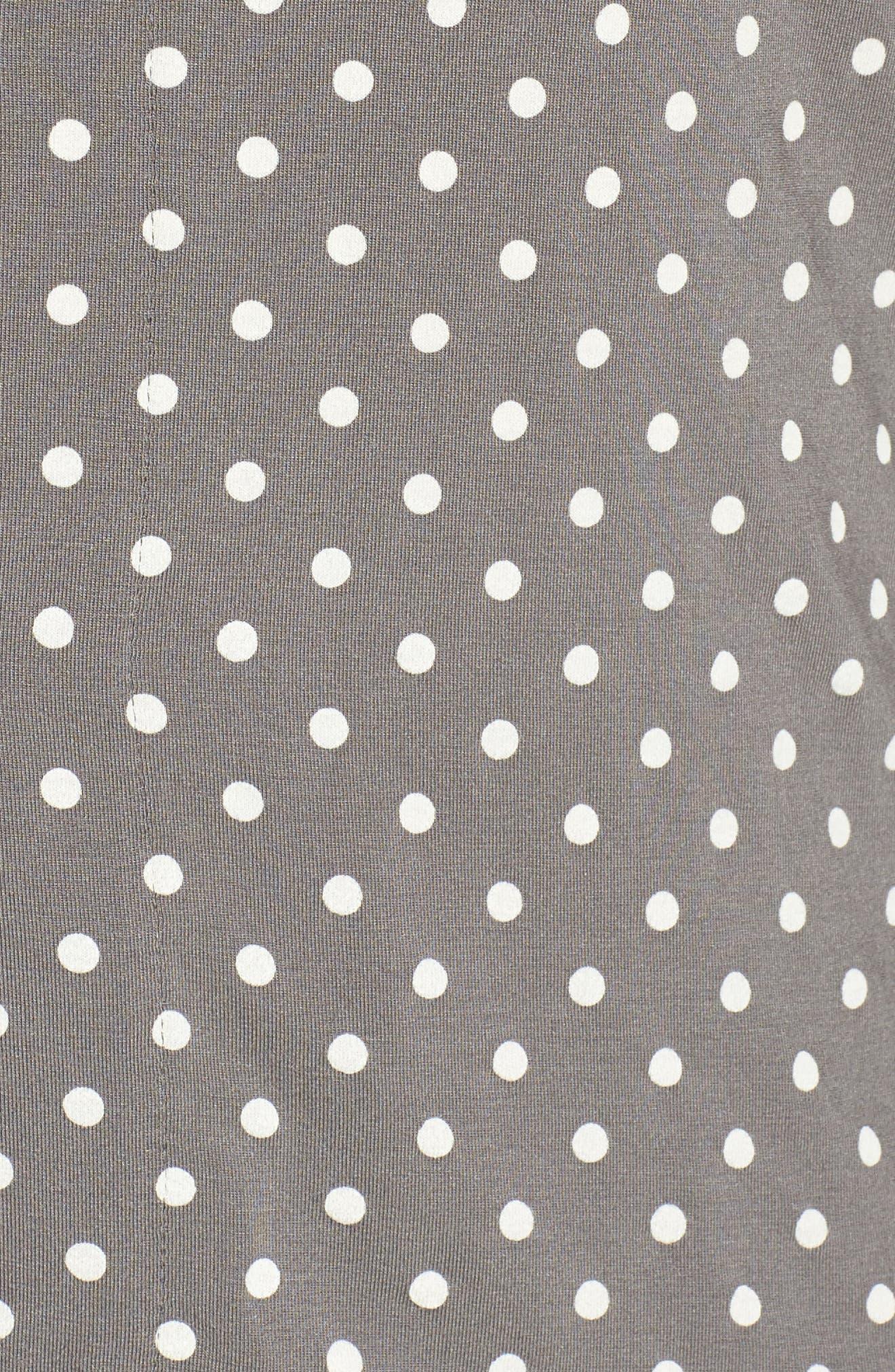 Polka Dot Pajamas,                             Alternate thumbnail 6, color,                             Charcoal