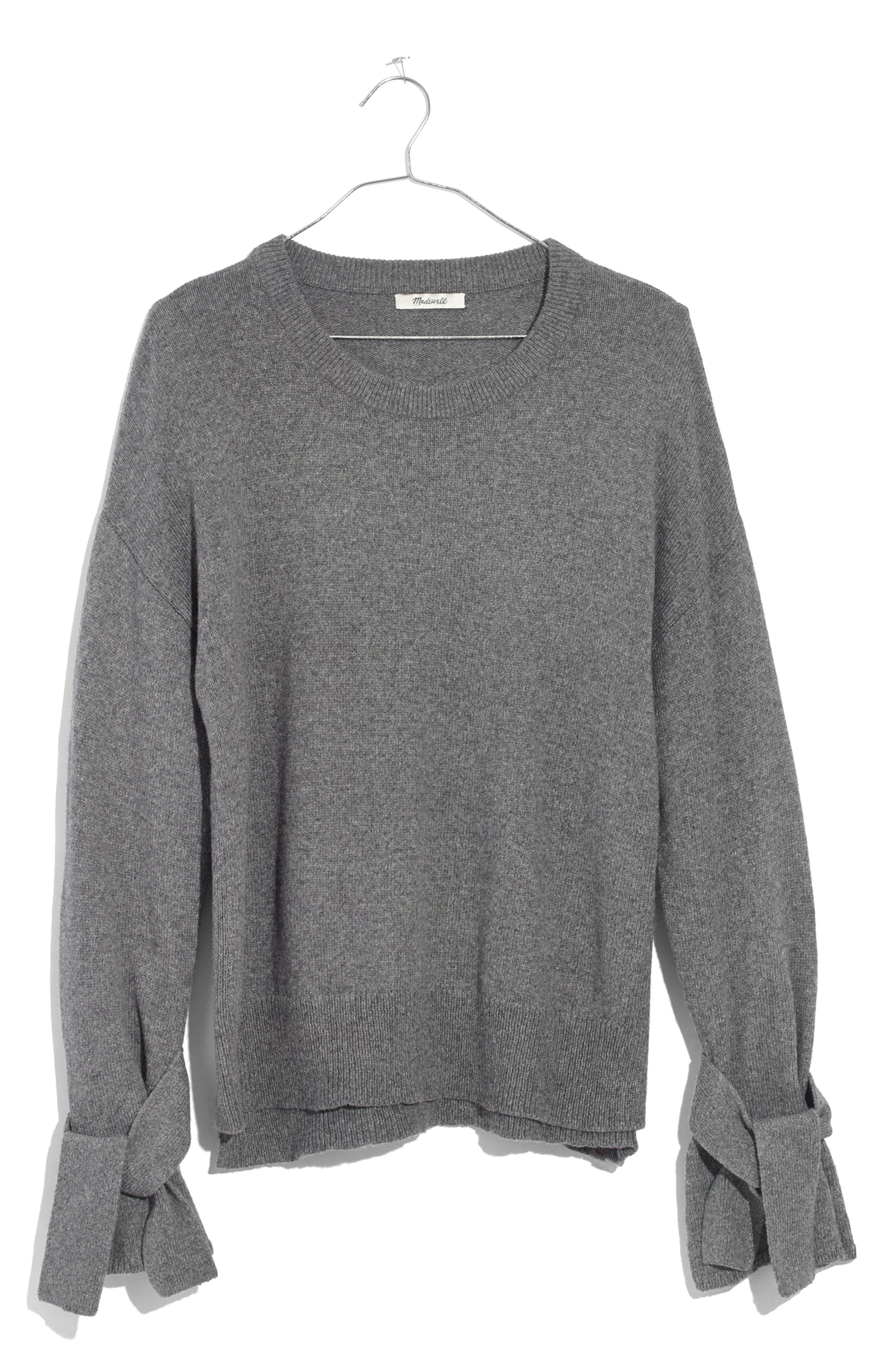 Alternate Image 4  - Madewell Tie Cuff Pullover Sweater