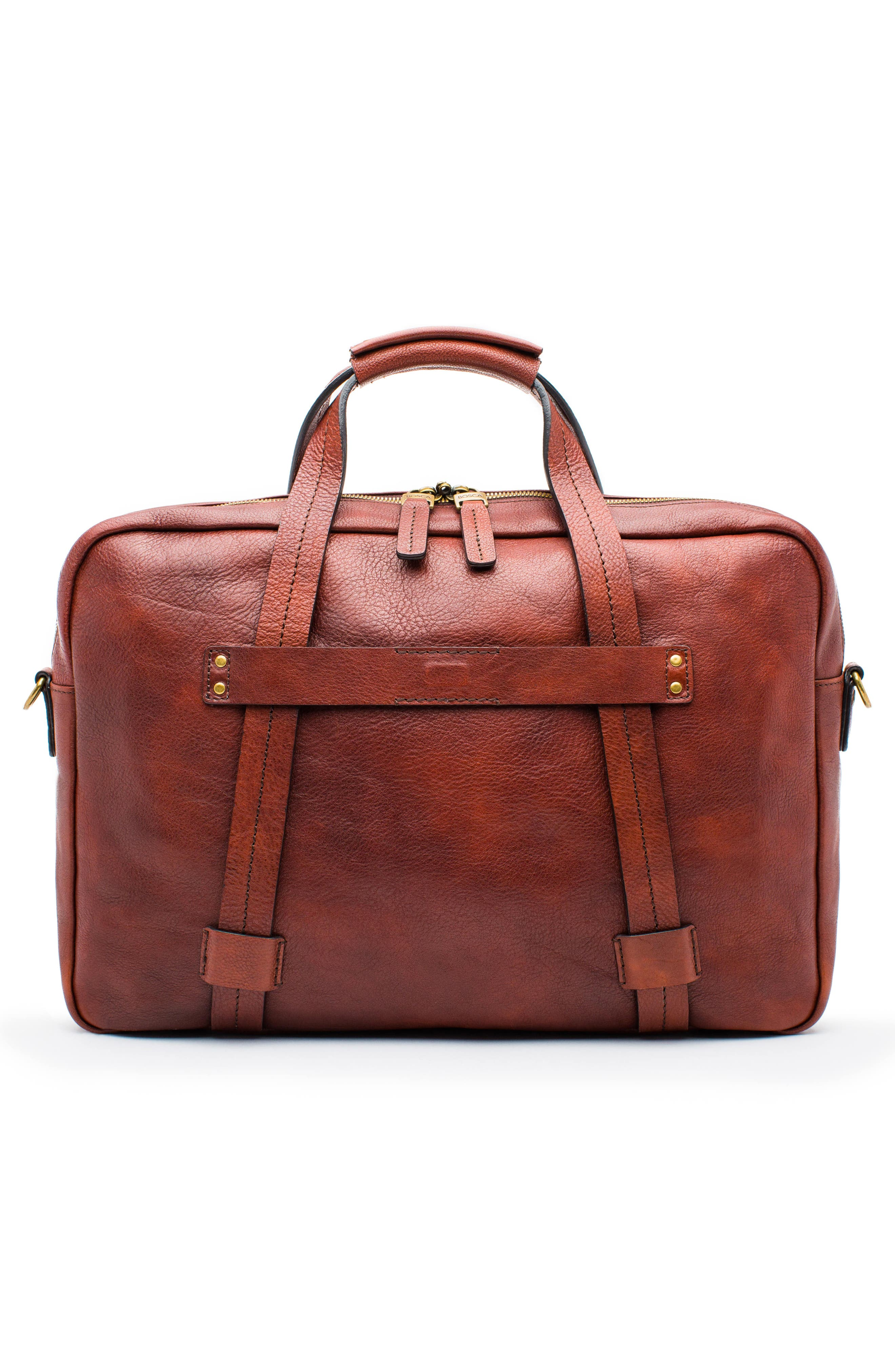 Leather Briefcase,                             Alternate thumbnail 2, color,                             Dark Brown