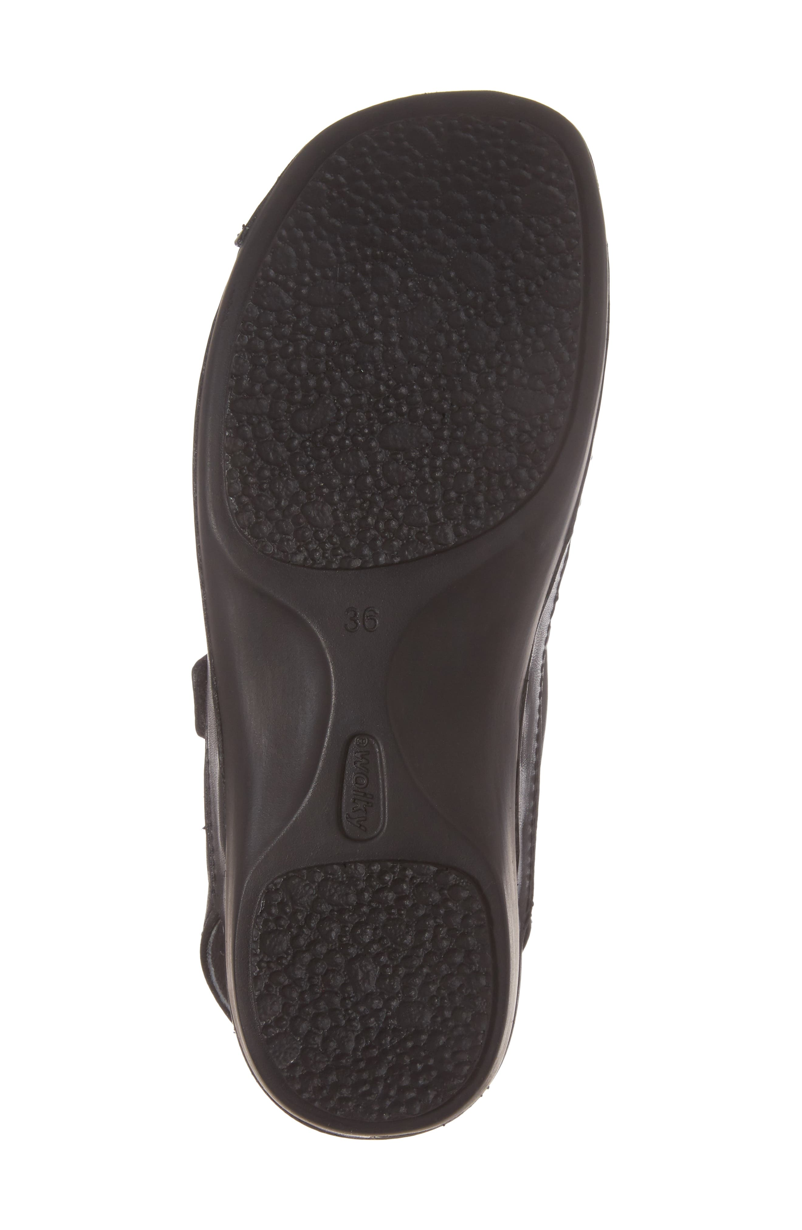 Slingback Clog,                             Alternate thumbnail 6, color,                             Black Mighty Greased Leather