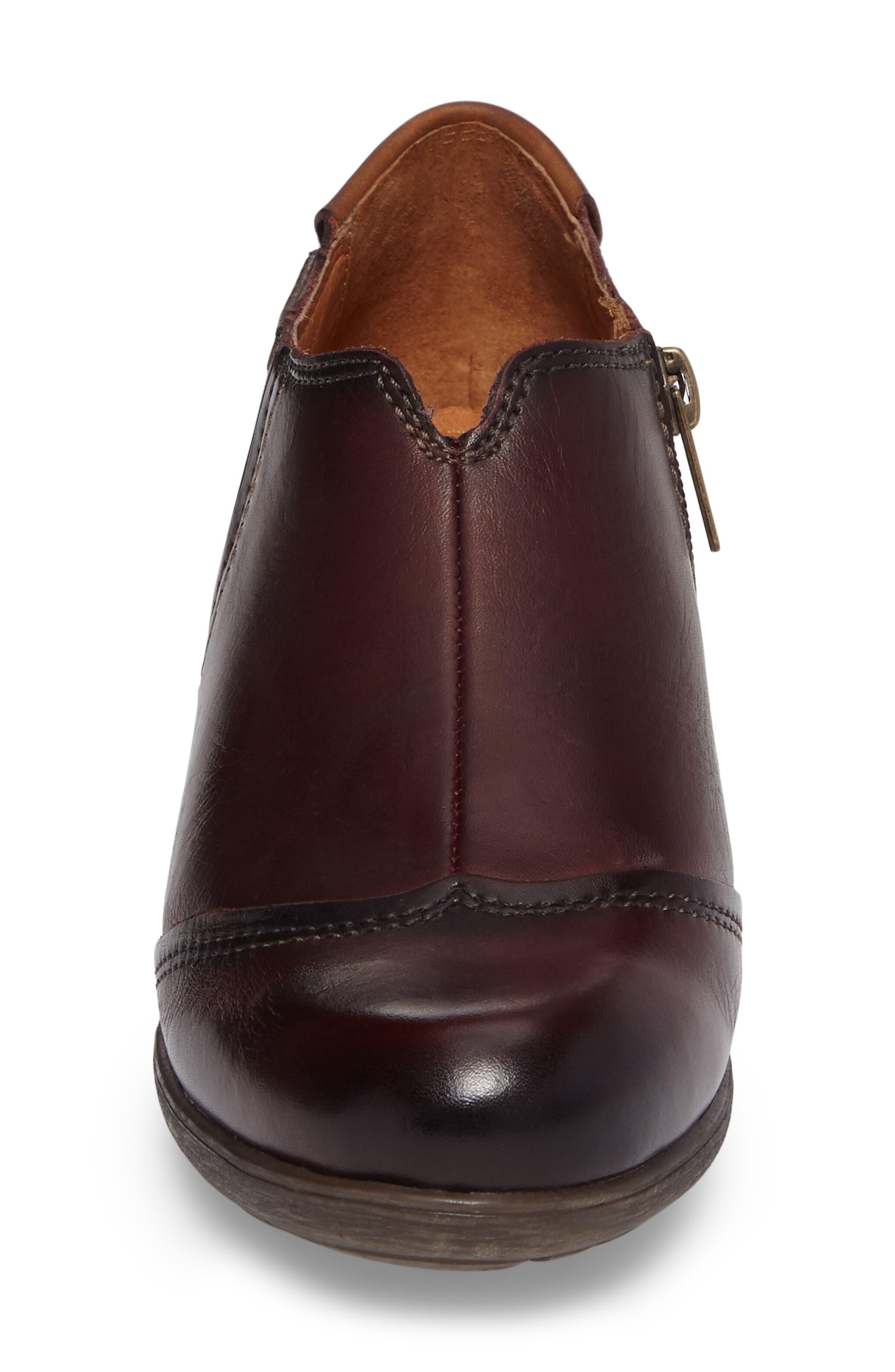 Rotterdam Bootie,                             Alternate thumbnail 4, color,                             Garnet Cuero Leather