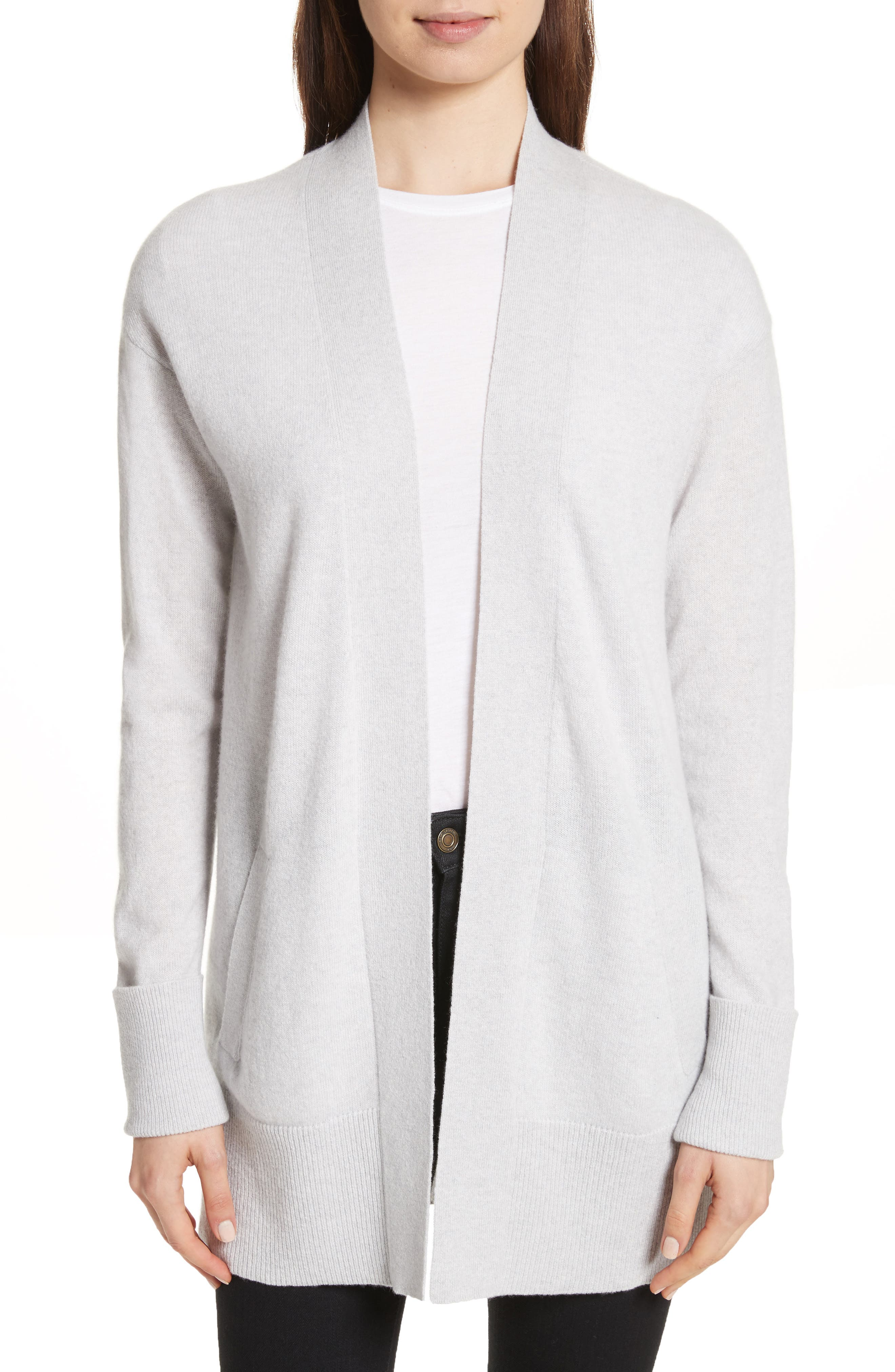 Relaxed Cashmere Cardigan,                         Main,                         color, Whale Grey