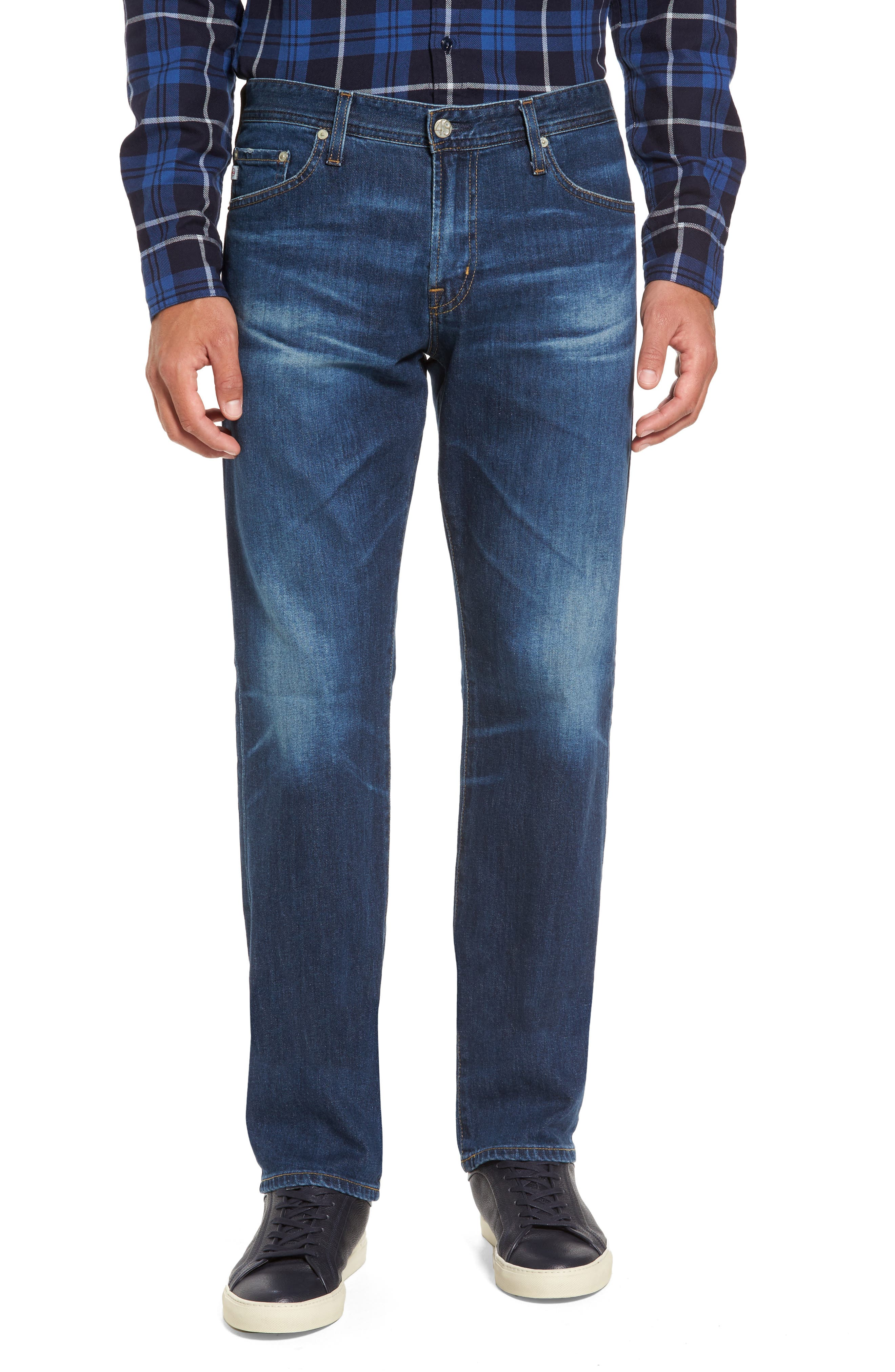 Graduate Slim Straight Leg Jeans,                         Main,                         color, 15 Years Wrecked