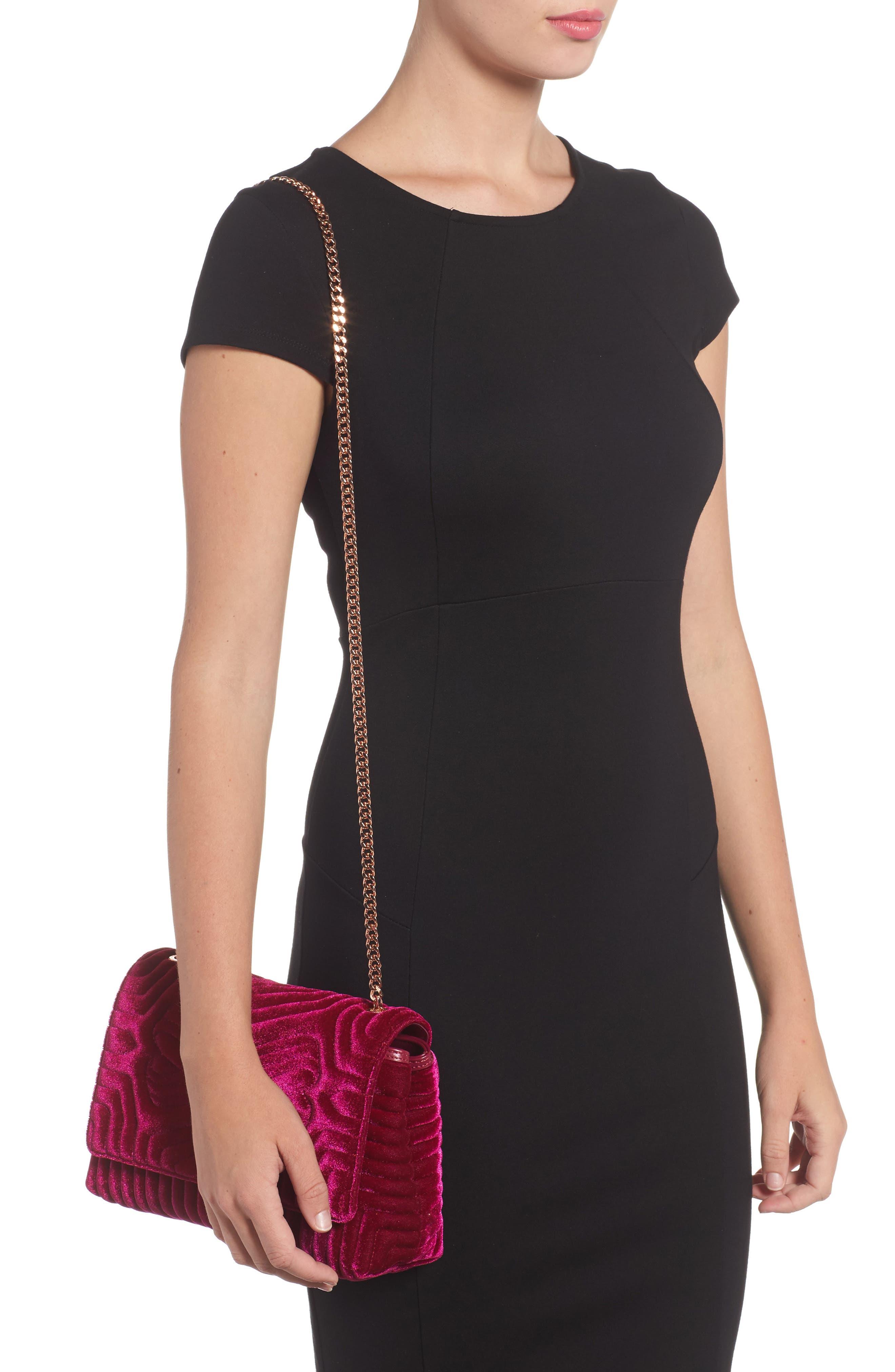 Alternate Image 2  - Ted Baker London Quilted Velvet Crossbody Bag