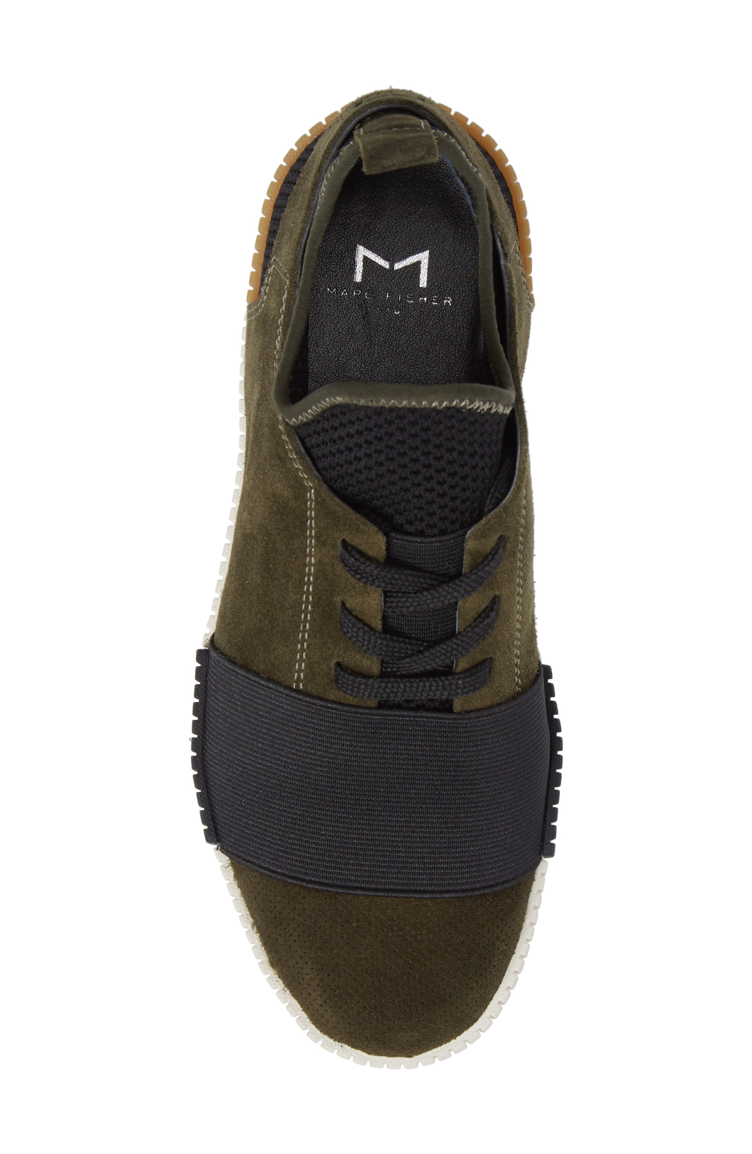 Ryley Platform Sneaker,                             Alternate thumbnail 5, color,                             Green Leather