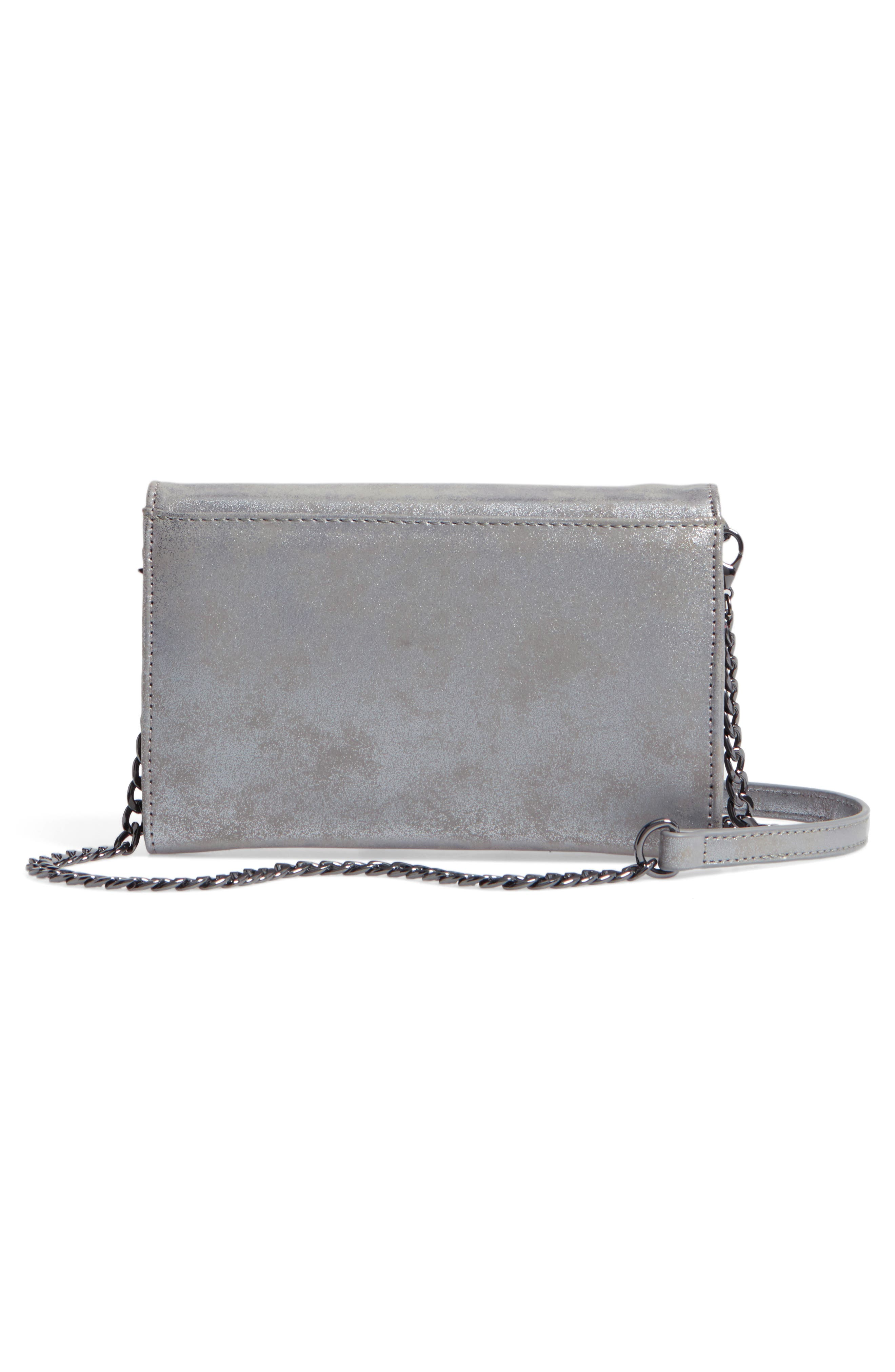 Alternate Image 4  - Chelsea28 Alexa Stars Faux Leather Wallet on a Chain