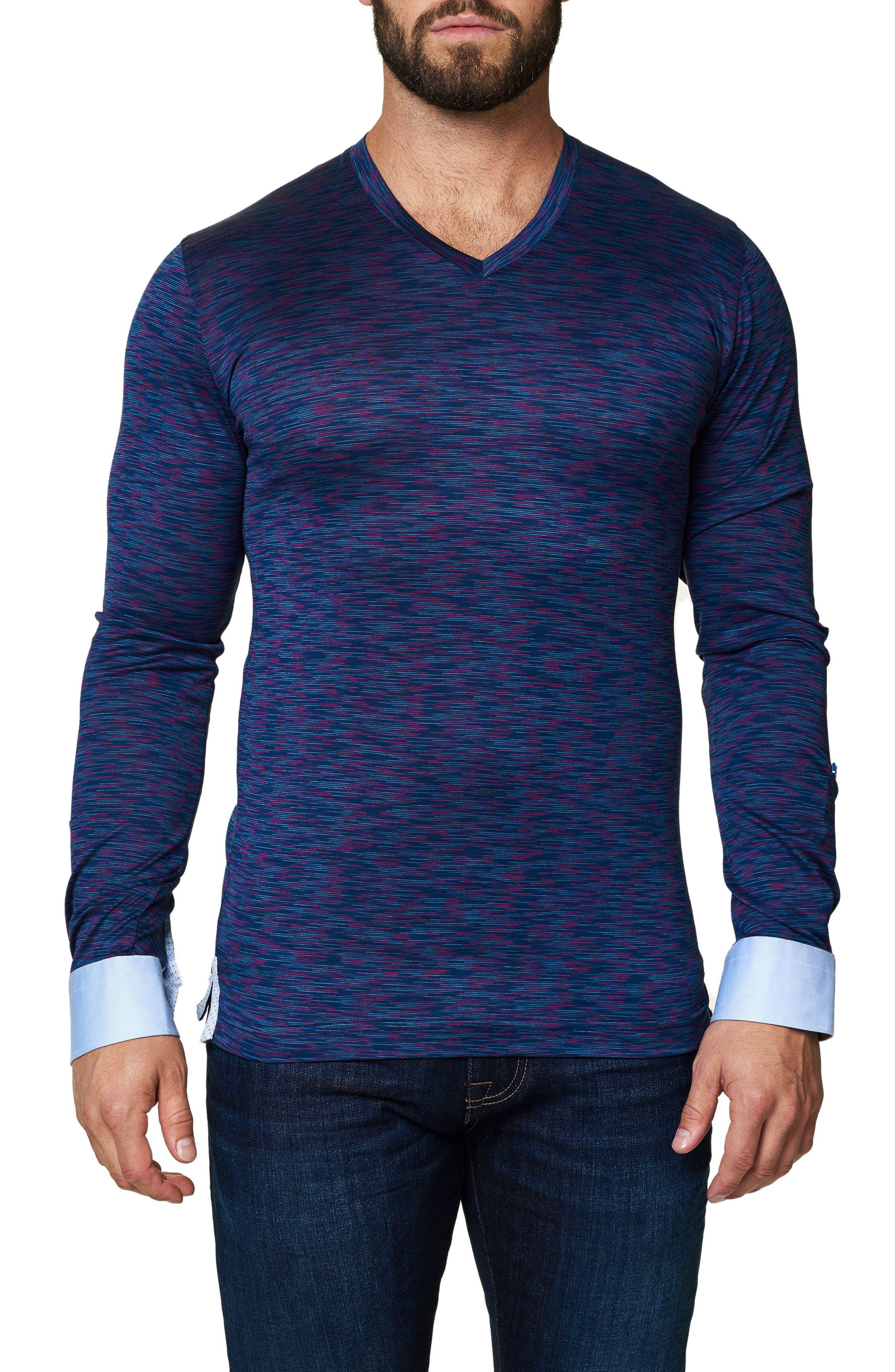Maceoo Print V-Neck T-Shirt