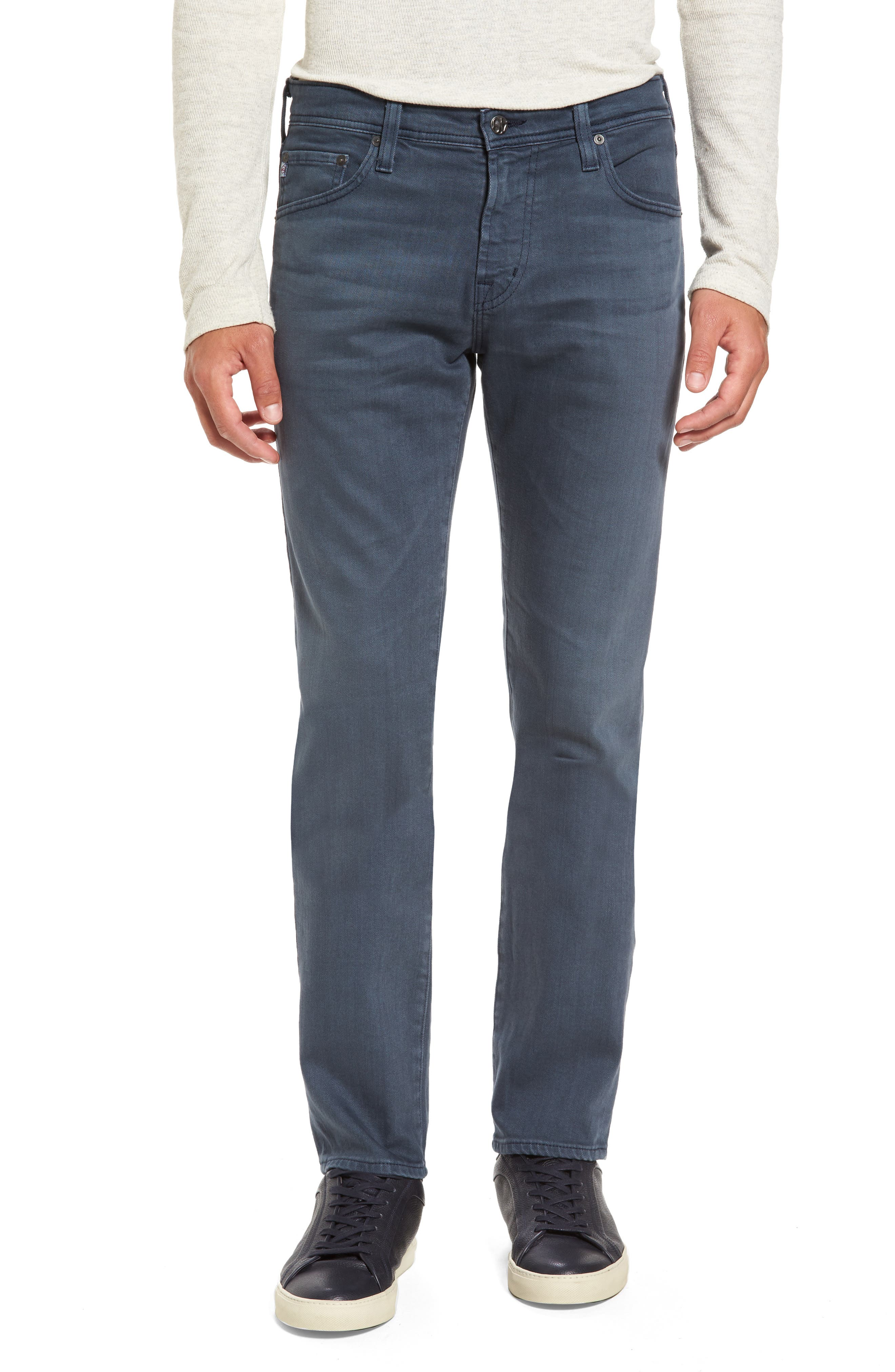 Alternate Image 1 Selected - AG Tellis Slim Fit Jeans (2 Years Midnight Shadow)