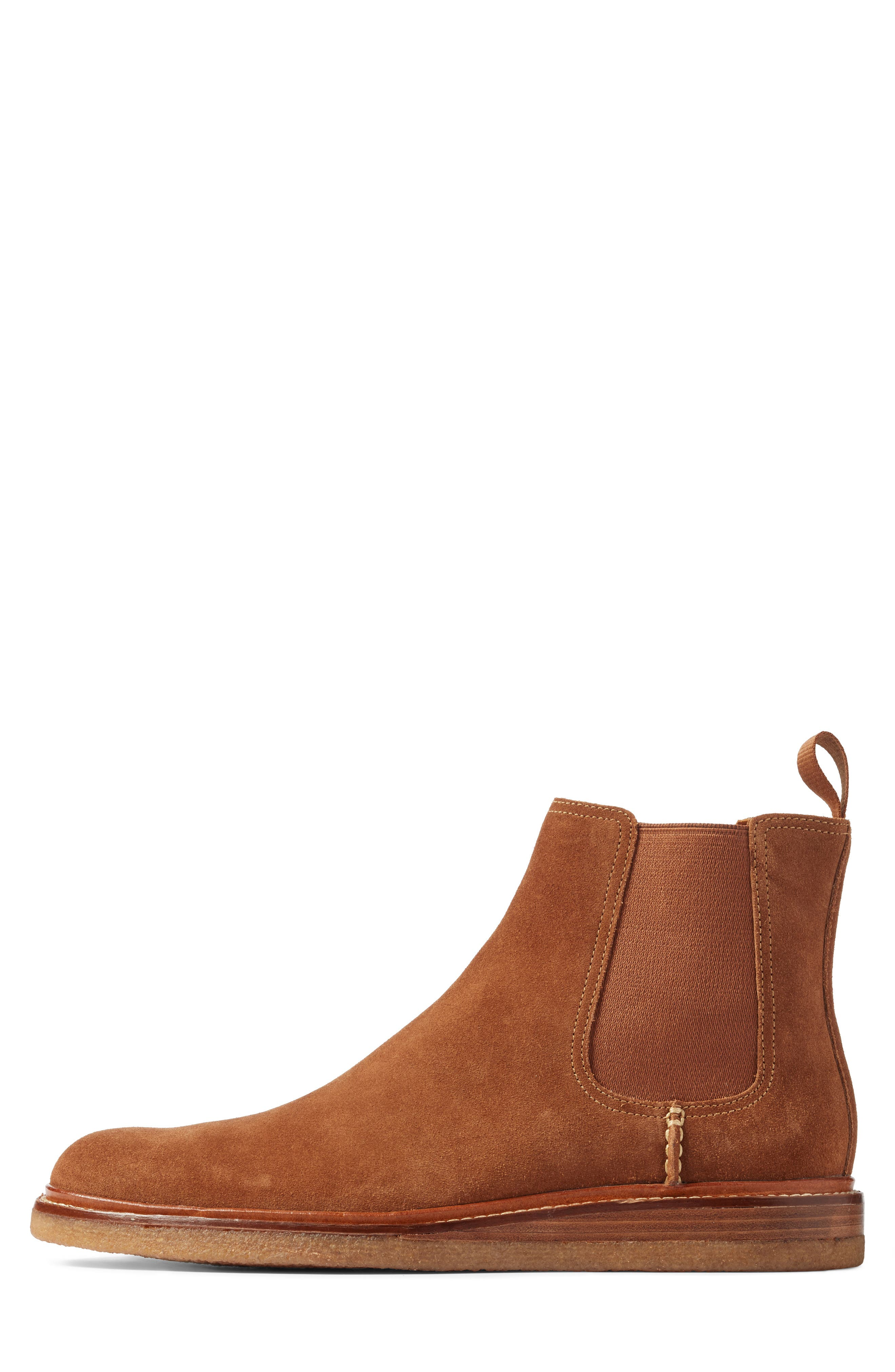 Leather Chelsea Boot,                             Alternate thumbnail 3, color,                             Dark Snuff Leather