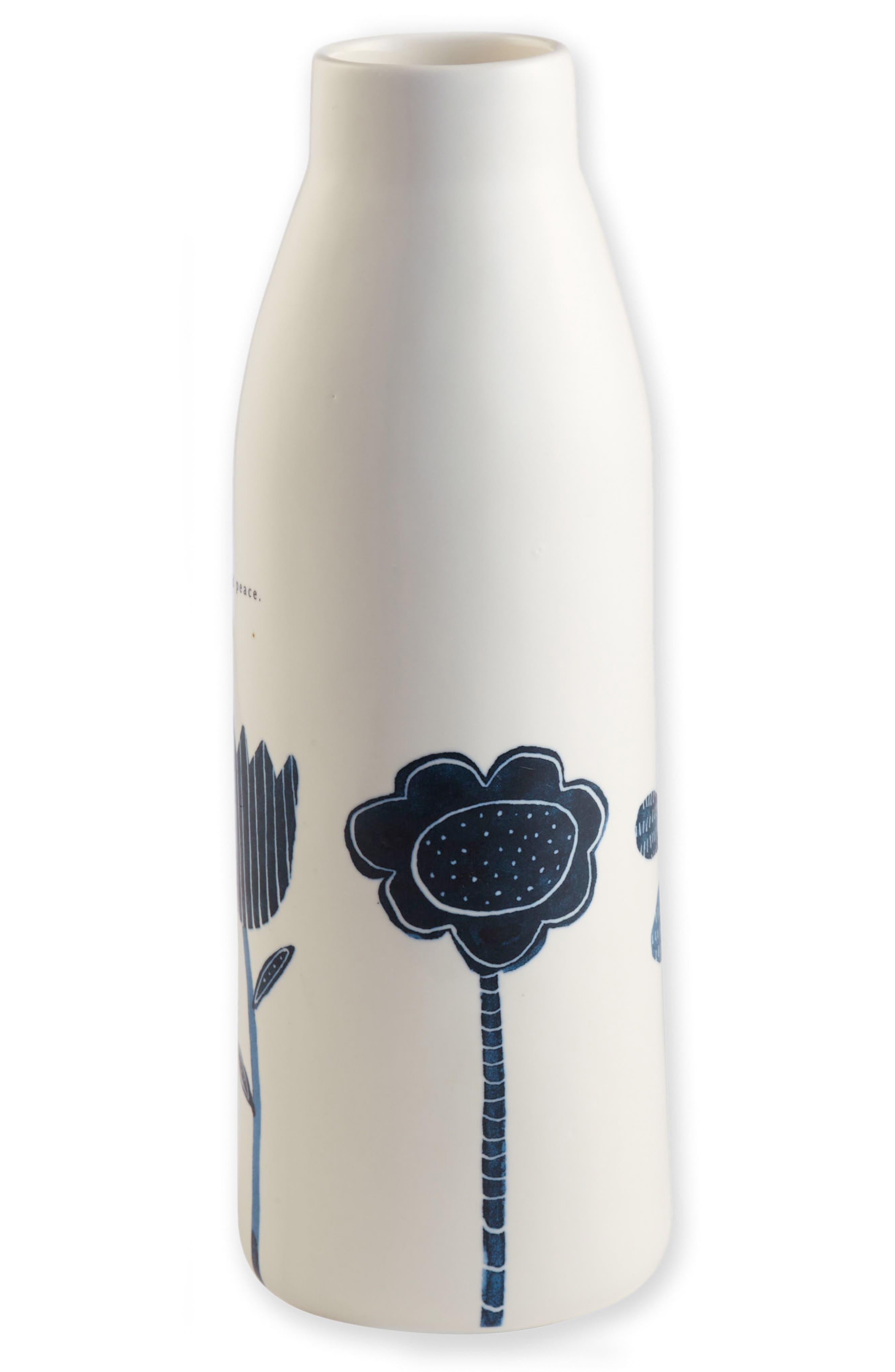 Find Peace Ceramic Vase,                         Main,                         color, White