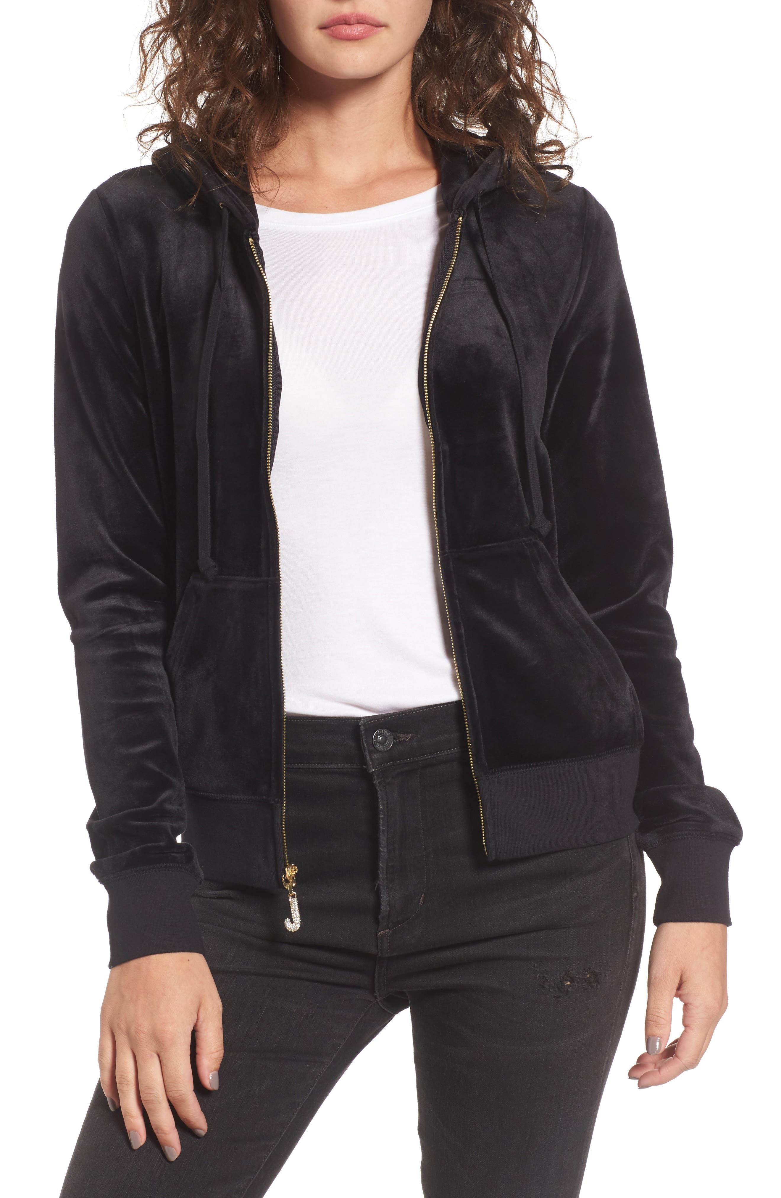Main Image - Juicy Couture Robertson Ultra Luxe Velour Zip Hoodie