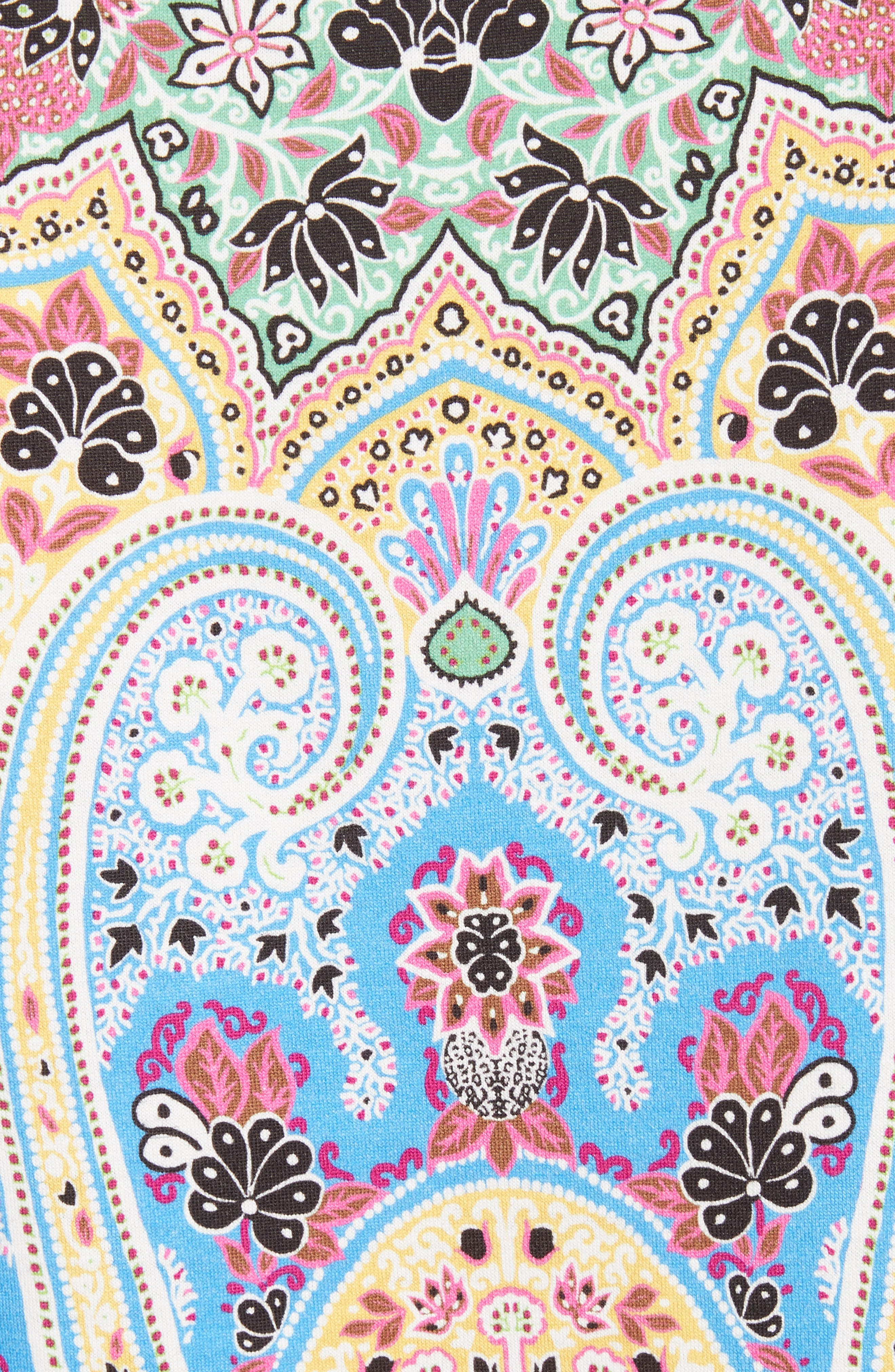 Paisley Print Cotton Tee,                             Alternate thumbnail 5, color,                             Blue