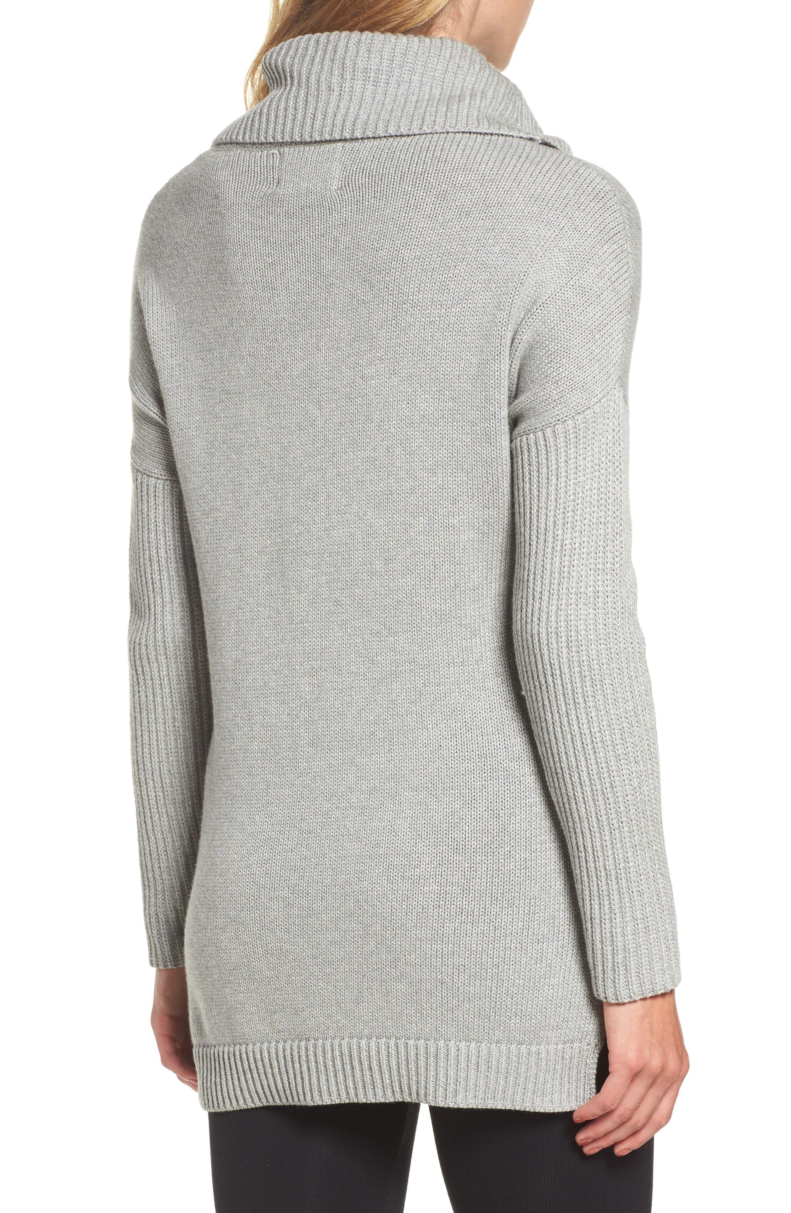 Alternate Image 2  - UGG® Cowl Neck Tunic Sweater
