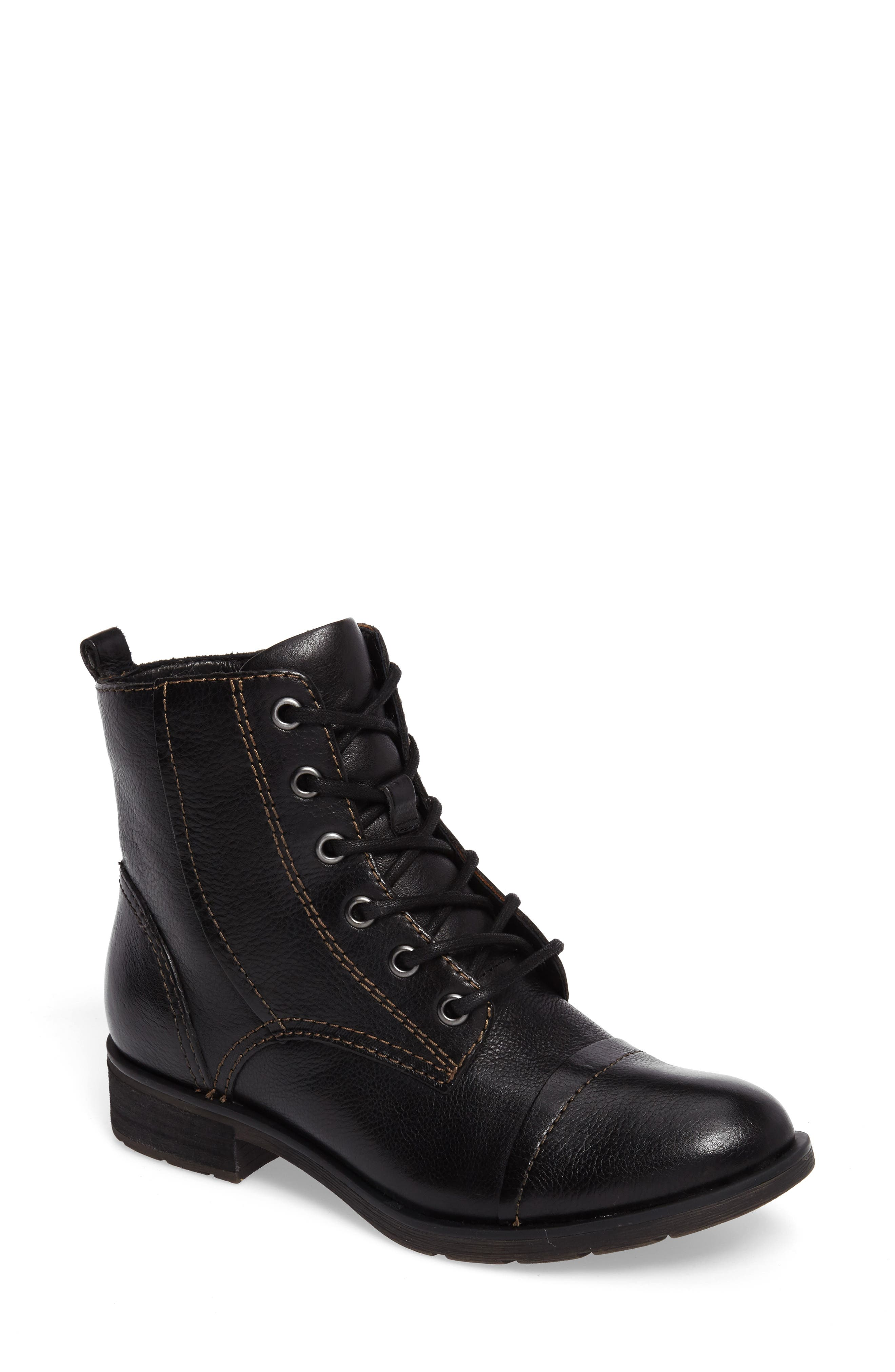 Söfft Belton Cap Toe Combat Boot (Women)