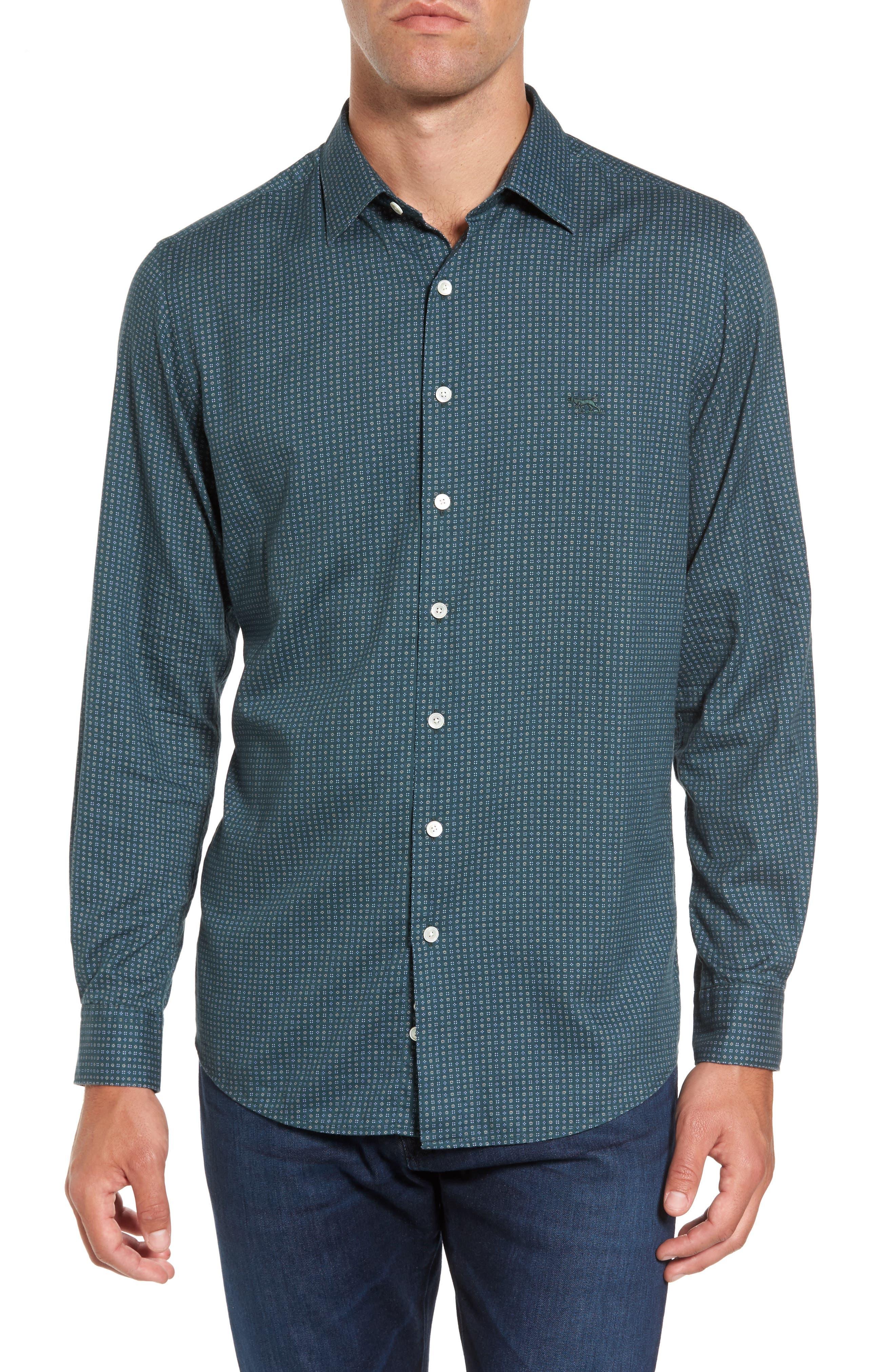 Alternate Image 1 Selected - Rodd & Gunn Oreti Beach Sports Fit Floral Print Sport Shirt