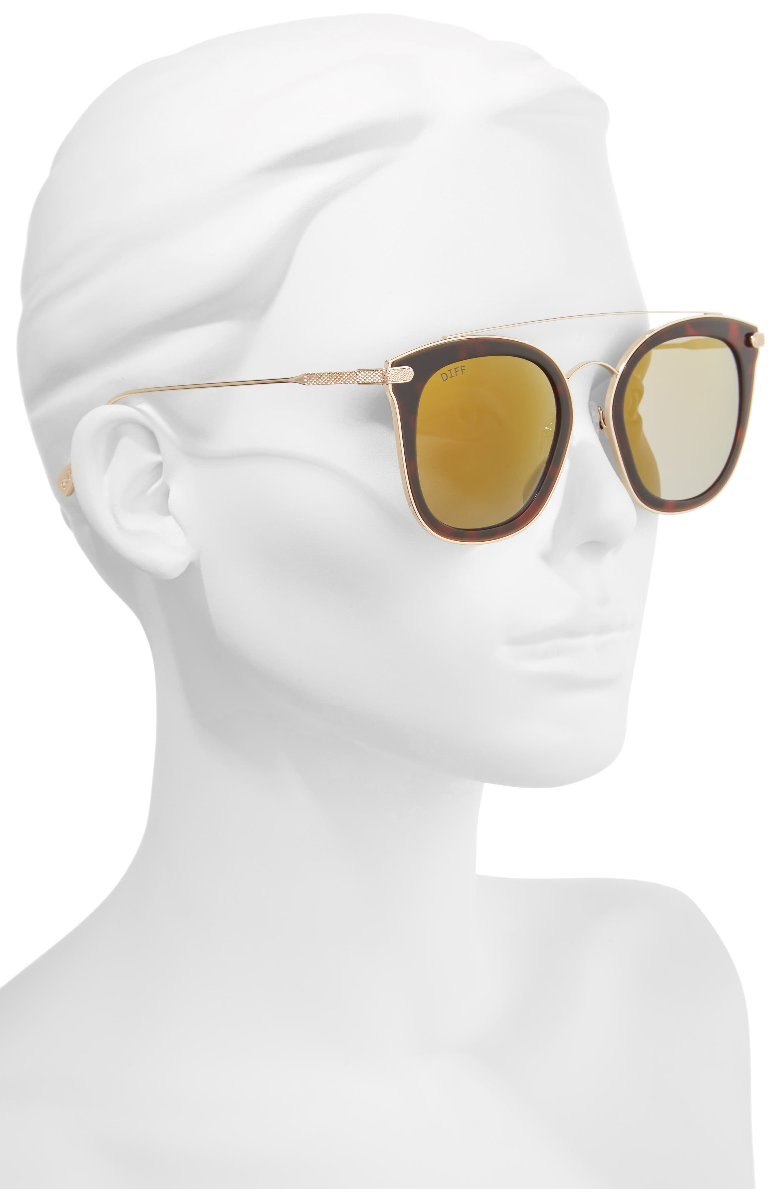 Alternate Image 2  - DIFF Zoey 51mm Polarized Sunglasses