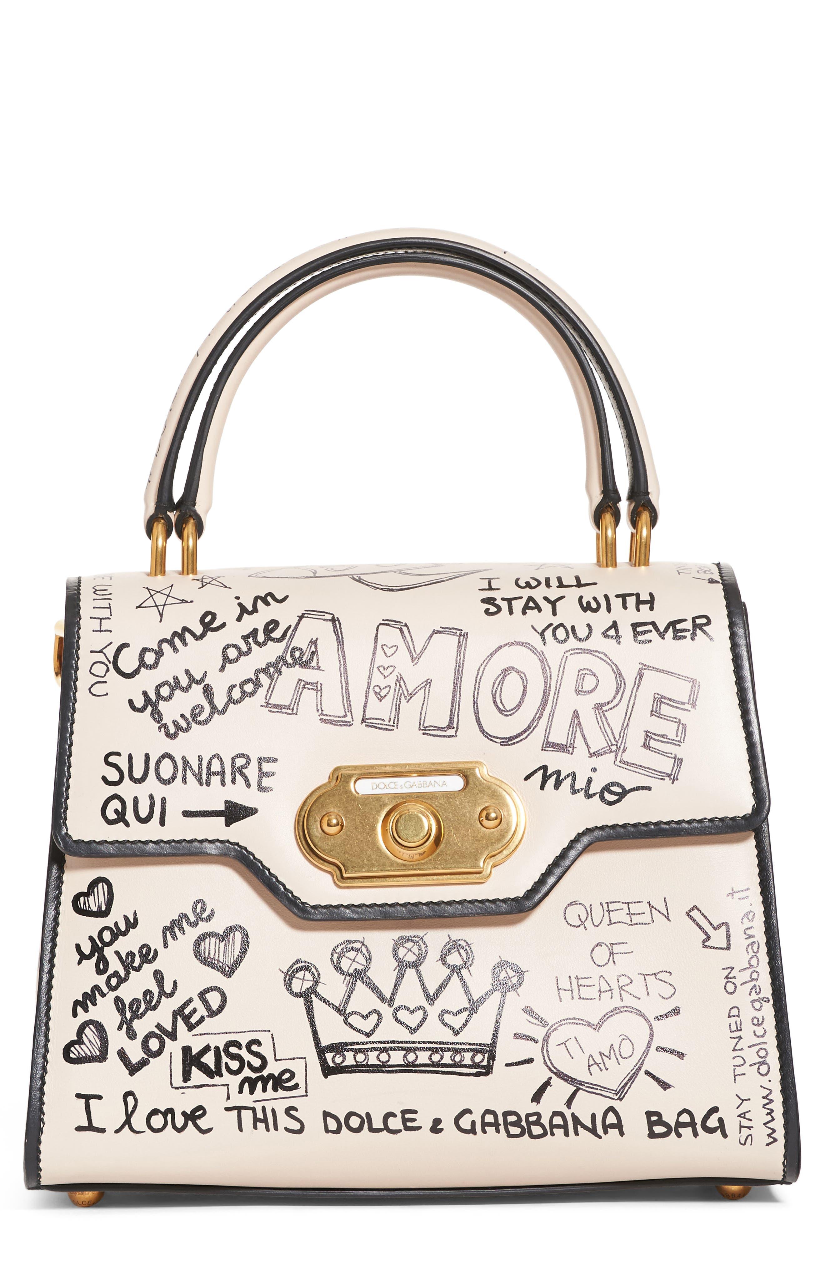 Alternate Image 1 Selected - Dolce&Gabbana Medium Welcome Leather Satchel
