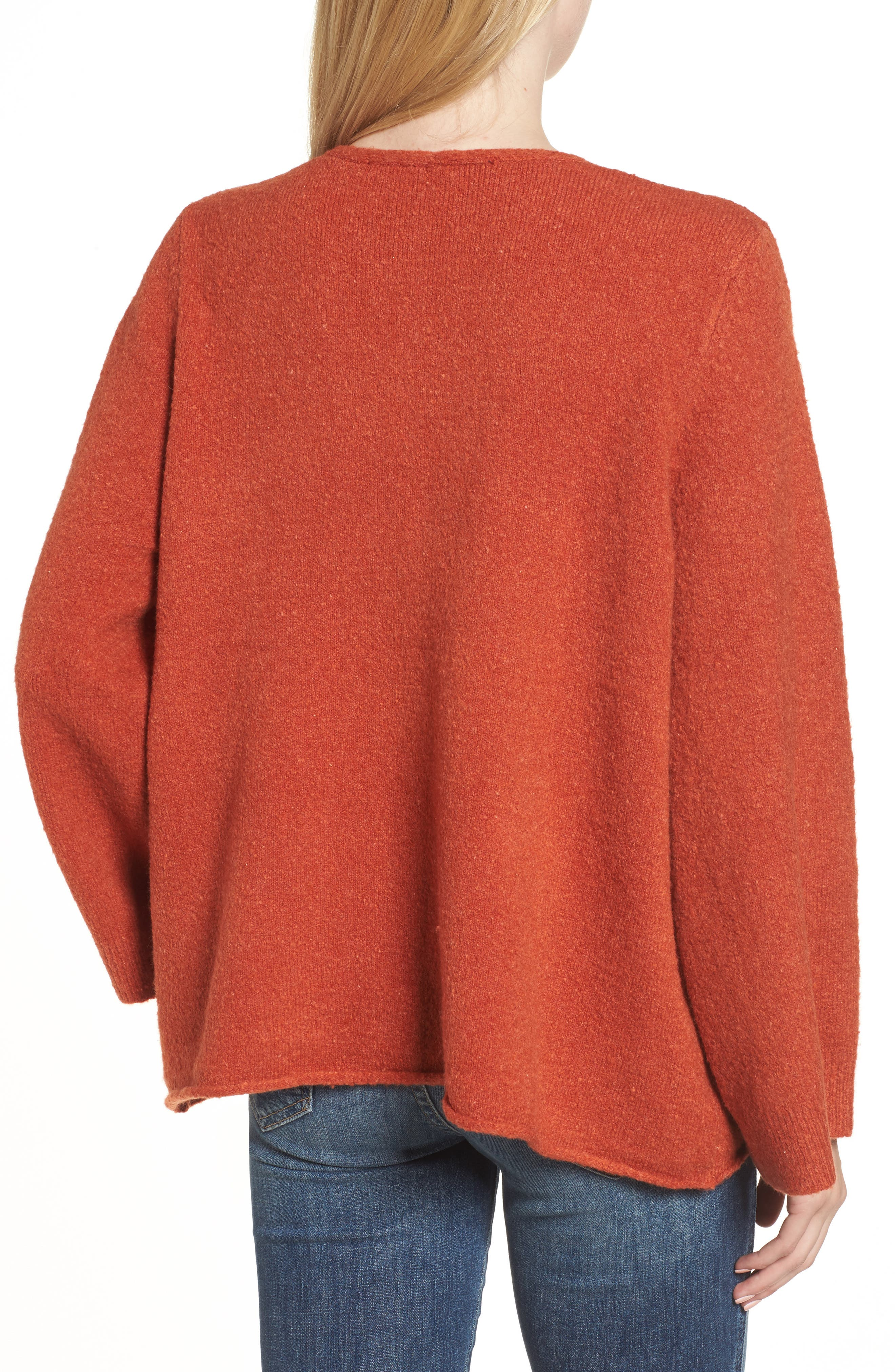 Urban Flossy Sweater,                             Alternate thumbnail 2, color,                             Copper Coin