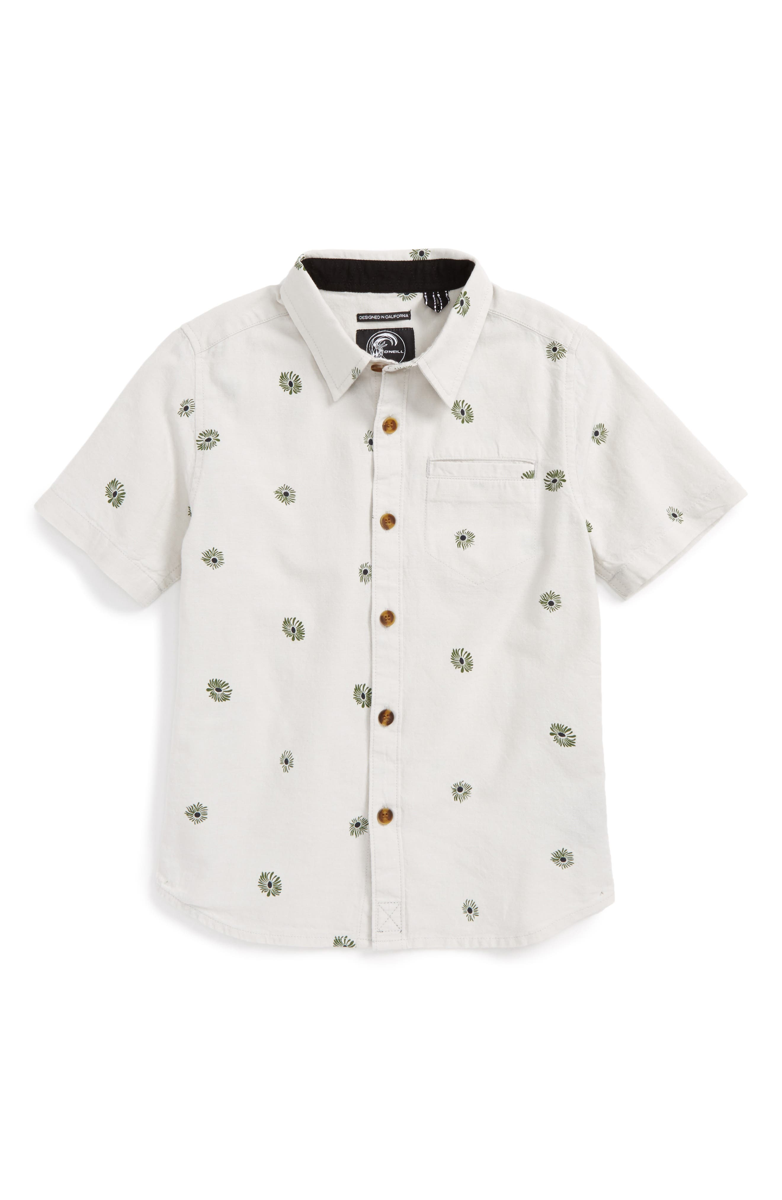 Alternate Image 1 Selected - O'Neill Brees Short Sleeve Woven Shirt (Little Boys)
