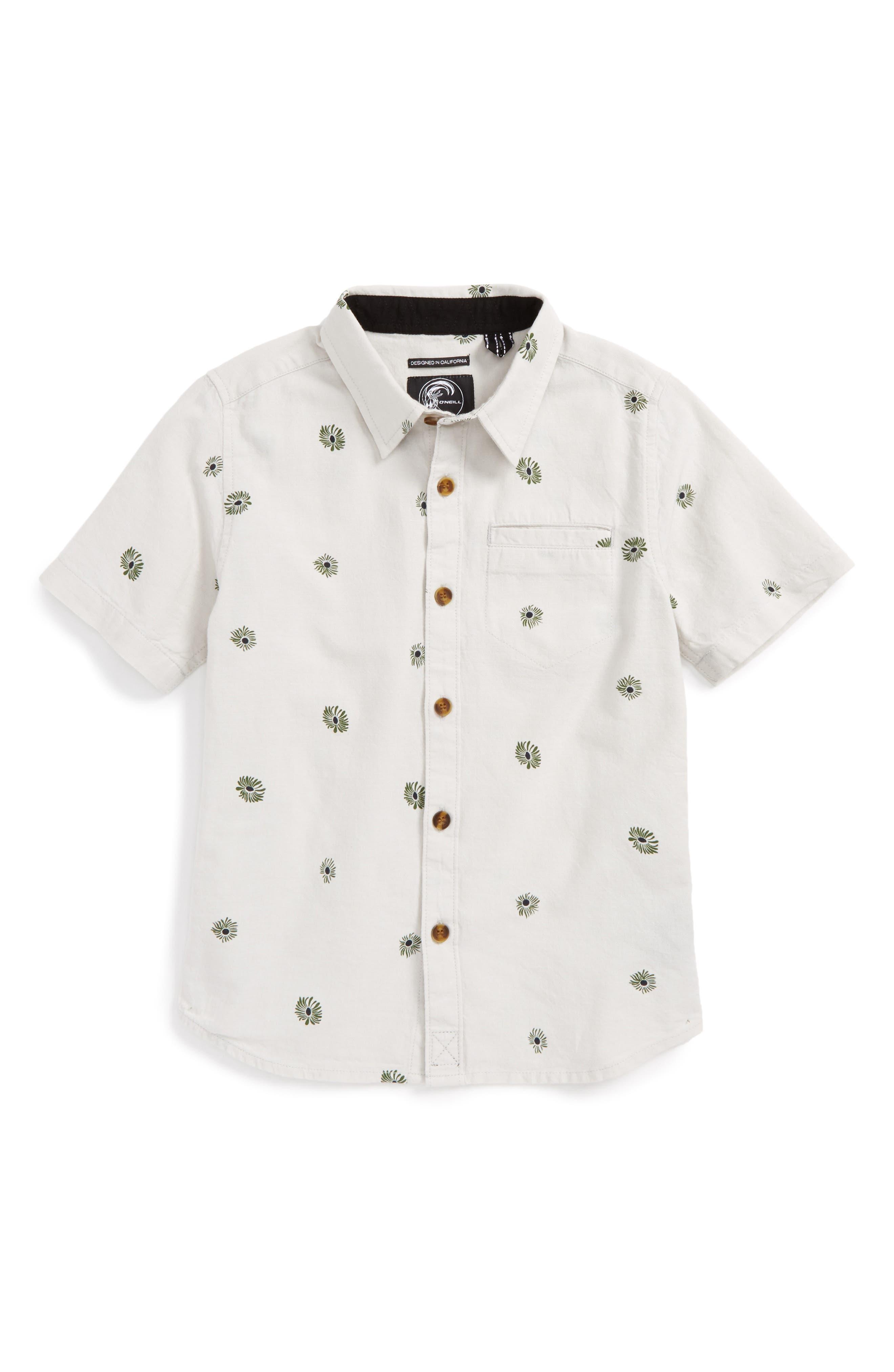 Brees Short Sleeve Woven Shirt,                         Main,                         color, Fog