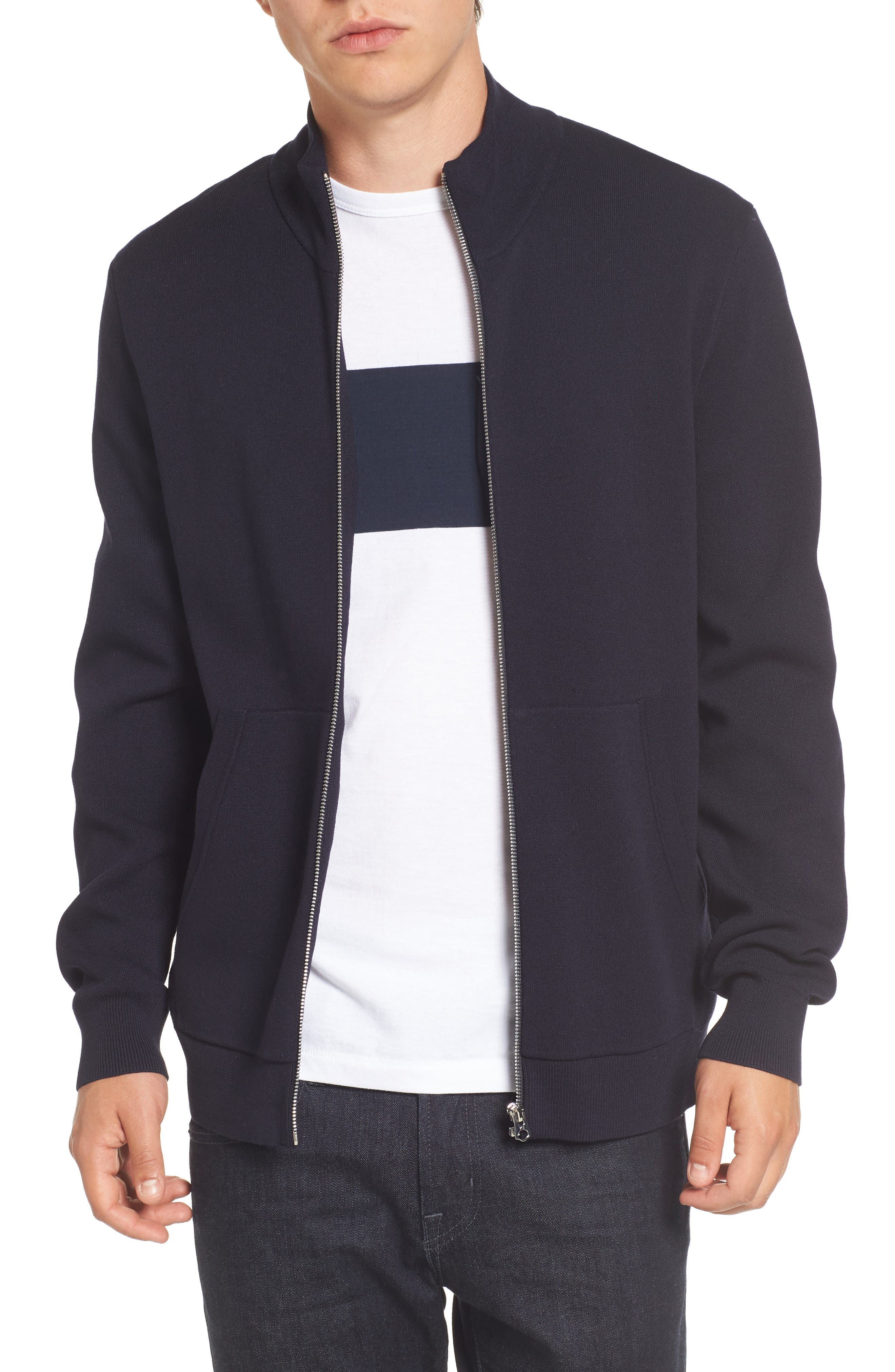 Lakra Zip-Up Sweater,                         Main,                         color, Marine Blue