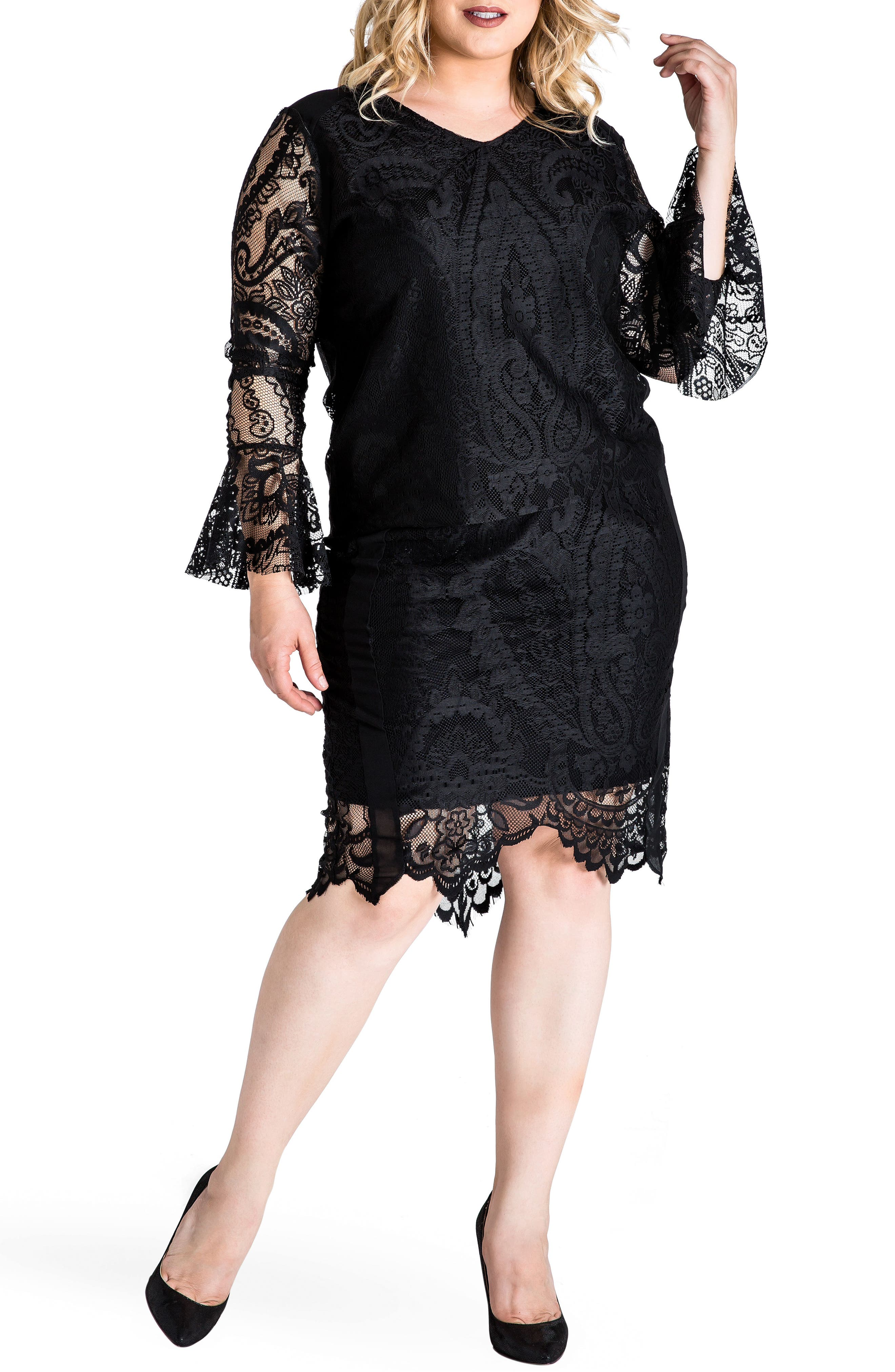 Alternate Image 2  - Standards & Practices Emily Lace Pencil Skirt (Plus Size)