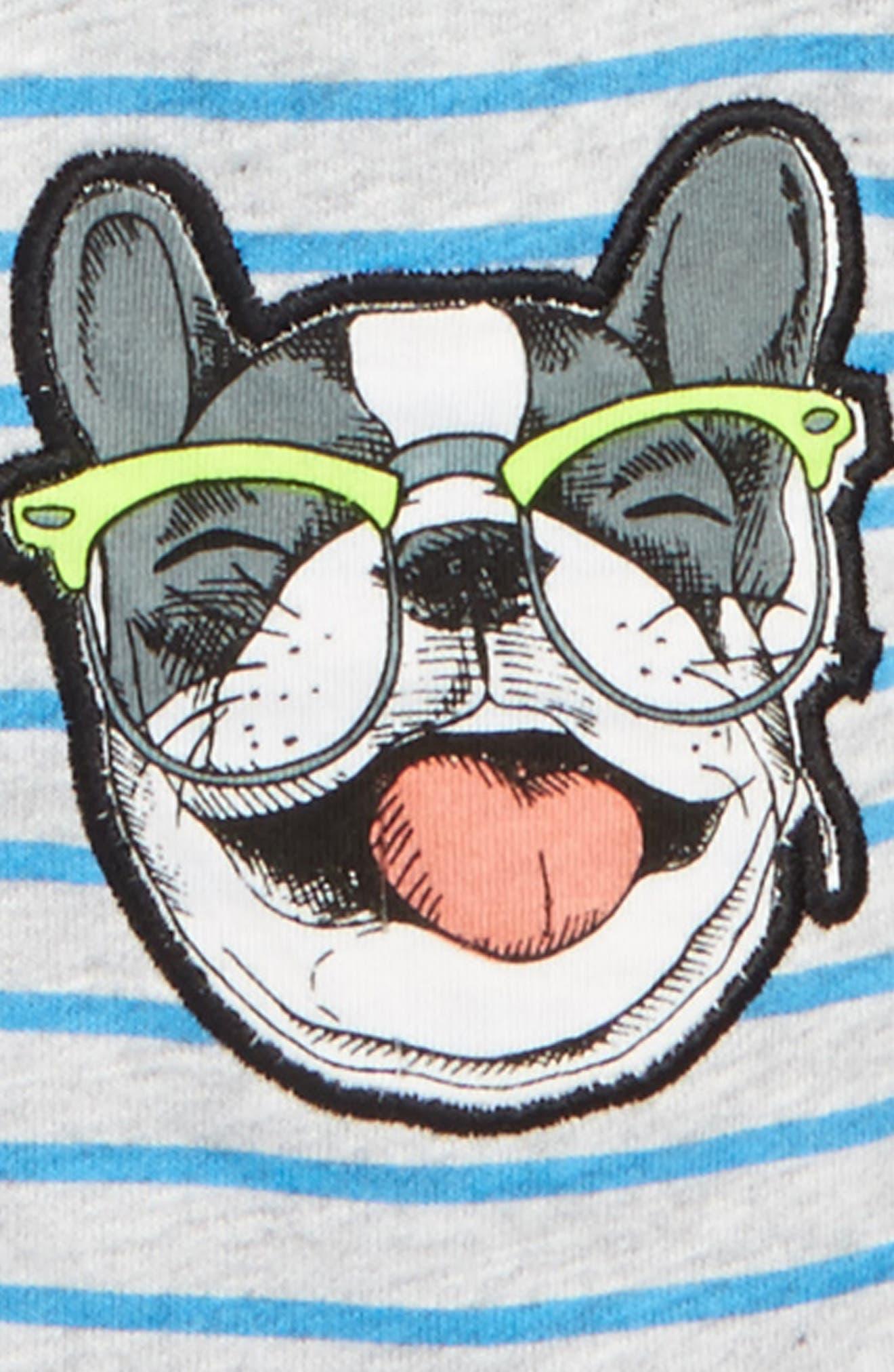 Alternate Image 2  - Rosie Pope Puppy Hooded Romper (Baby Boys)