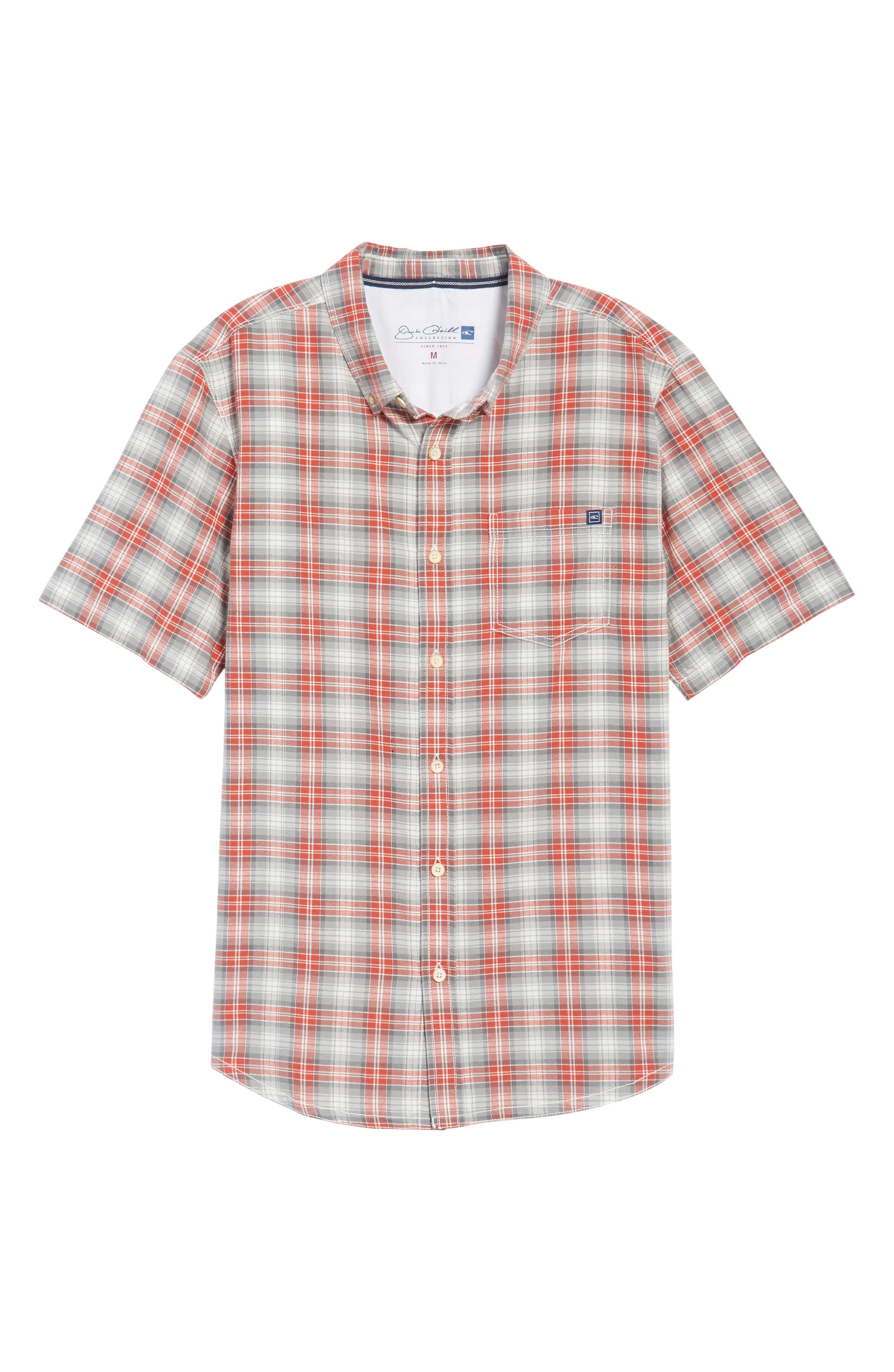 Voyager Plaid Sport Shirt,                             Alternate thumbnail 6, color,                             Tandori Spice