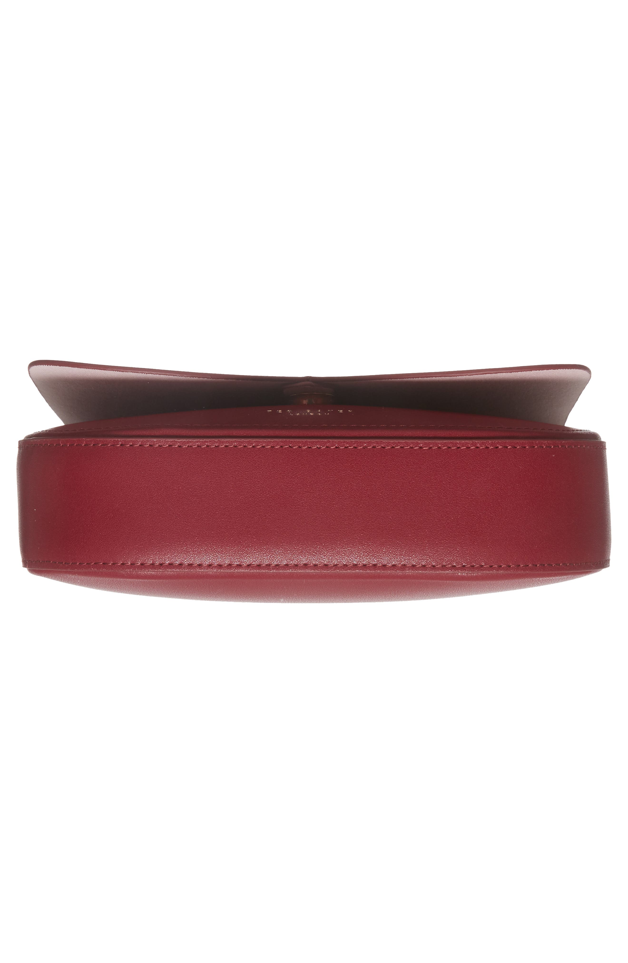 Kittii Cat Leather Crossbody Bag,                             Alternate thumbnail 6, color,                             Oxblood