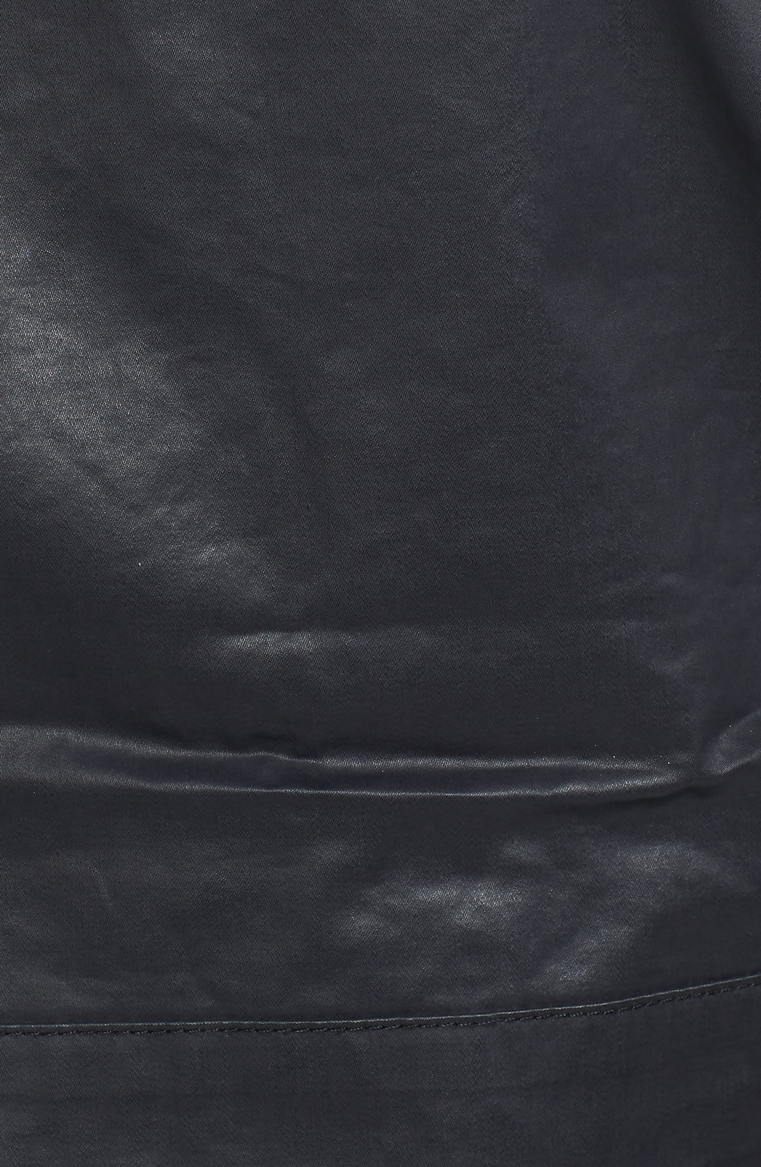 Edgeware Modern Fit Coated Moto Jacket,                             Alternate thumbnail 5, color,                             Black