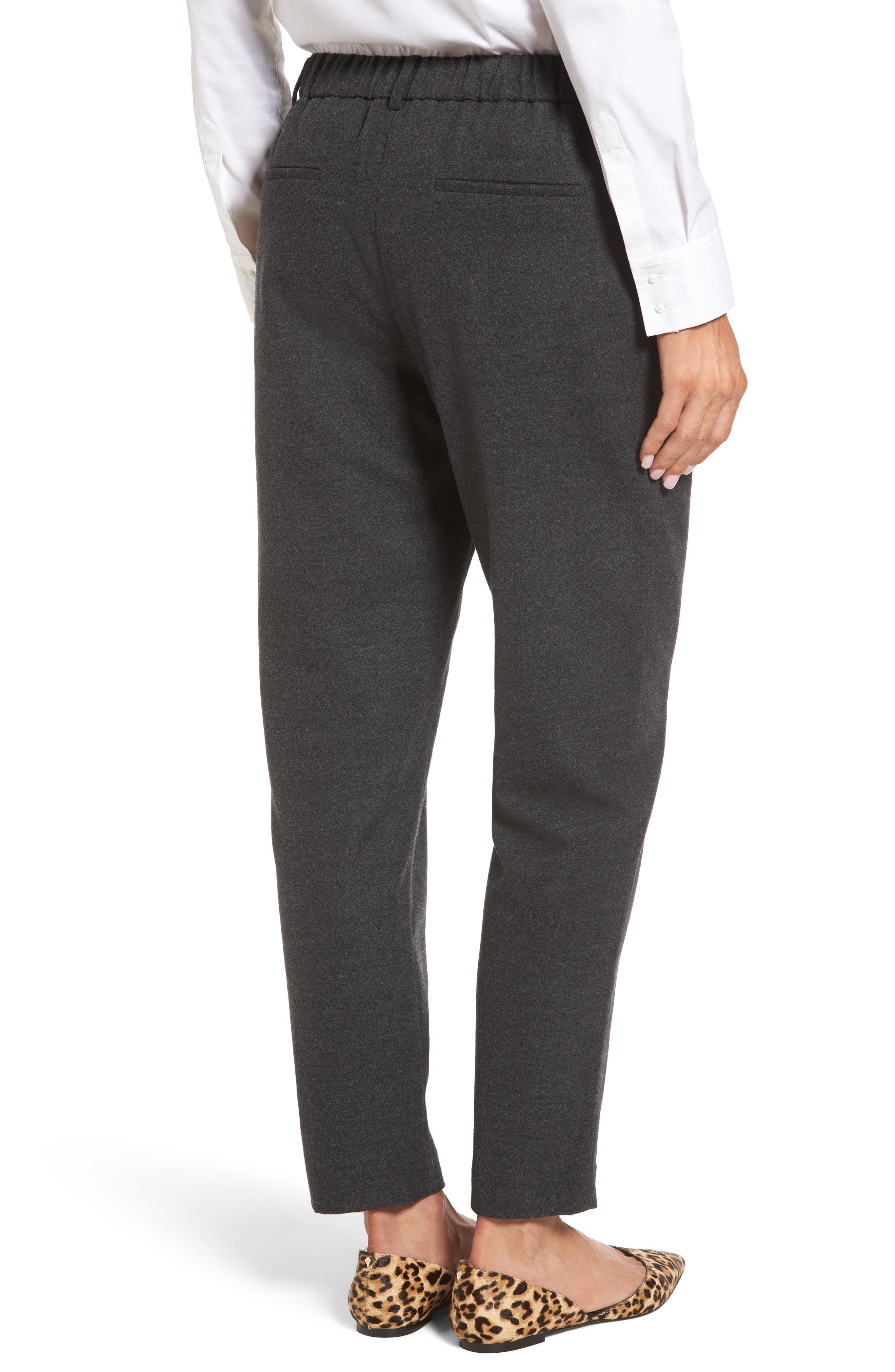 Relaxed Ankle Pants,                             Alternate thumbnail 2, color,                             Heather Grey